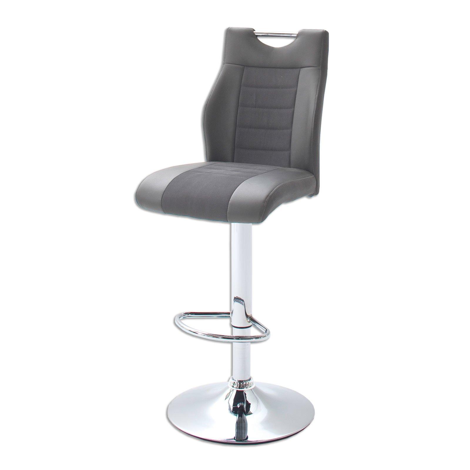 barhocker tito 2 grau h henverstellbar barhocker. Black Bedroom Furniture Sets. Home Design Ideas
