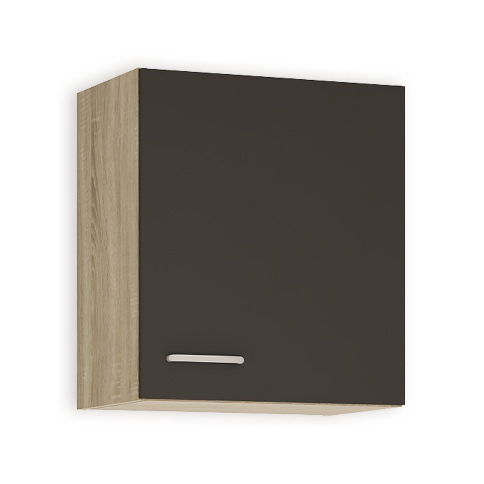 h ngeschrank fox anthrazit sonoma eiche 50 cm breit h ngeschr nke einzelschr nke. Black Bedroom Furniture Sets. Home Design Ideas