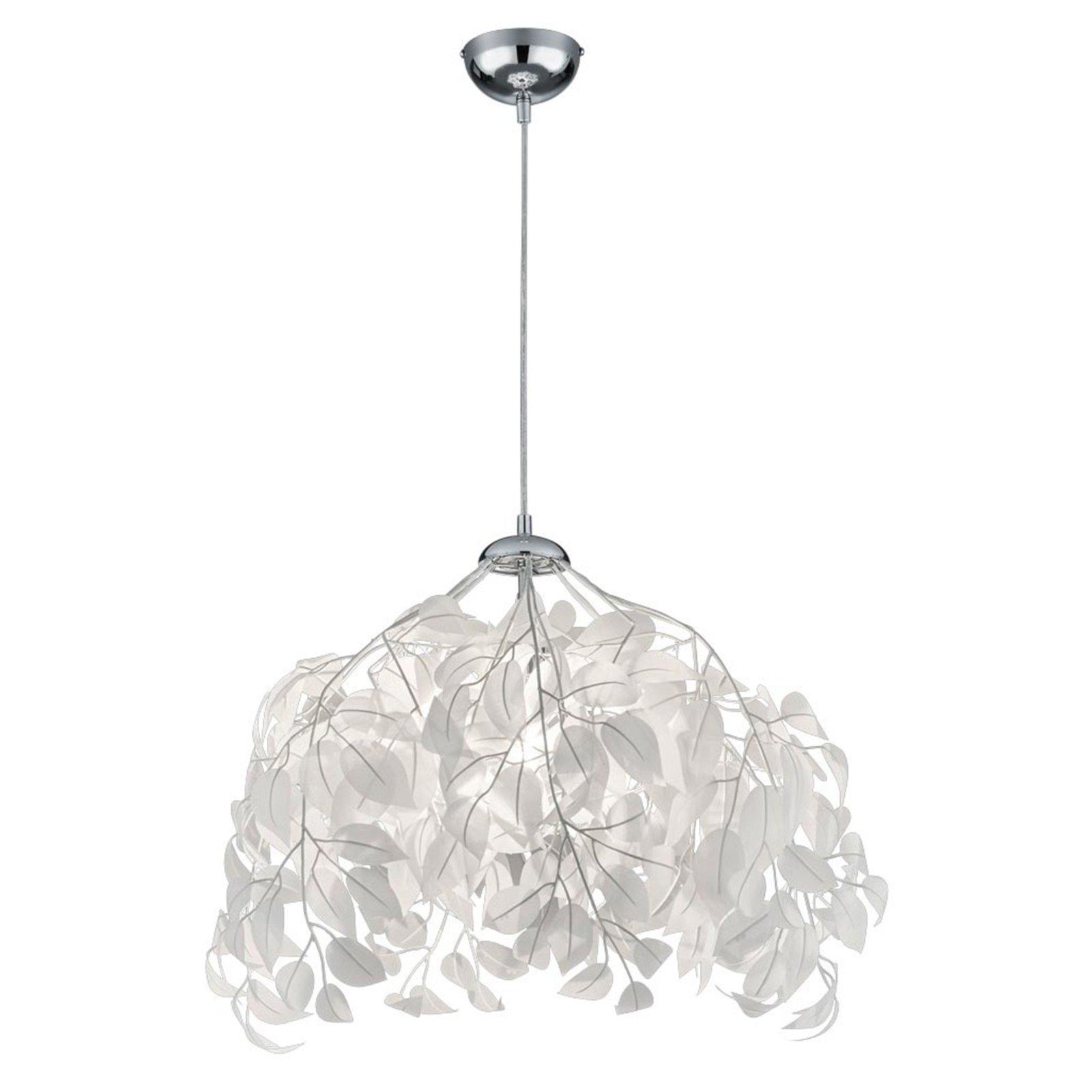 pendelleuchte leavy wei bl tter 38 cm pendelleuchten h ngelampen lampen roller. Black Bedroom Furniture Sets. Home Design Ideas