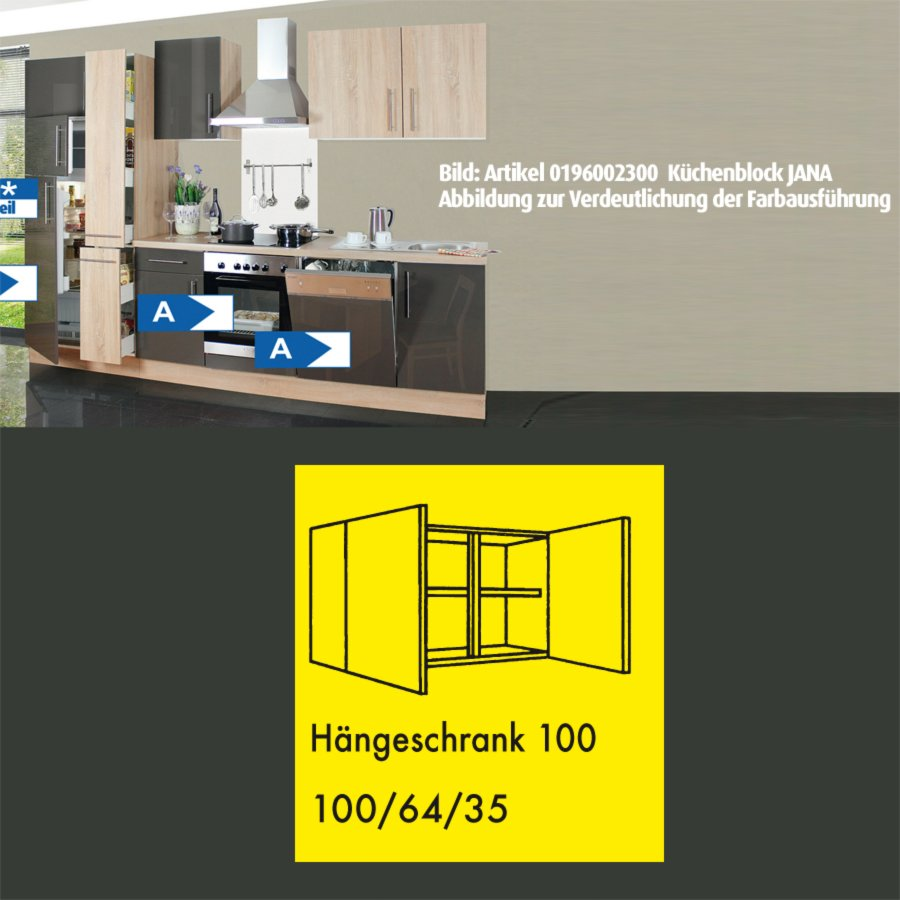 h nger jana sonoma eiche 100 cm h ngeschr nke. Black Bedroom Furniture Sets. Home Design Ideas