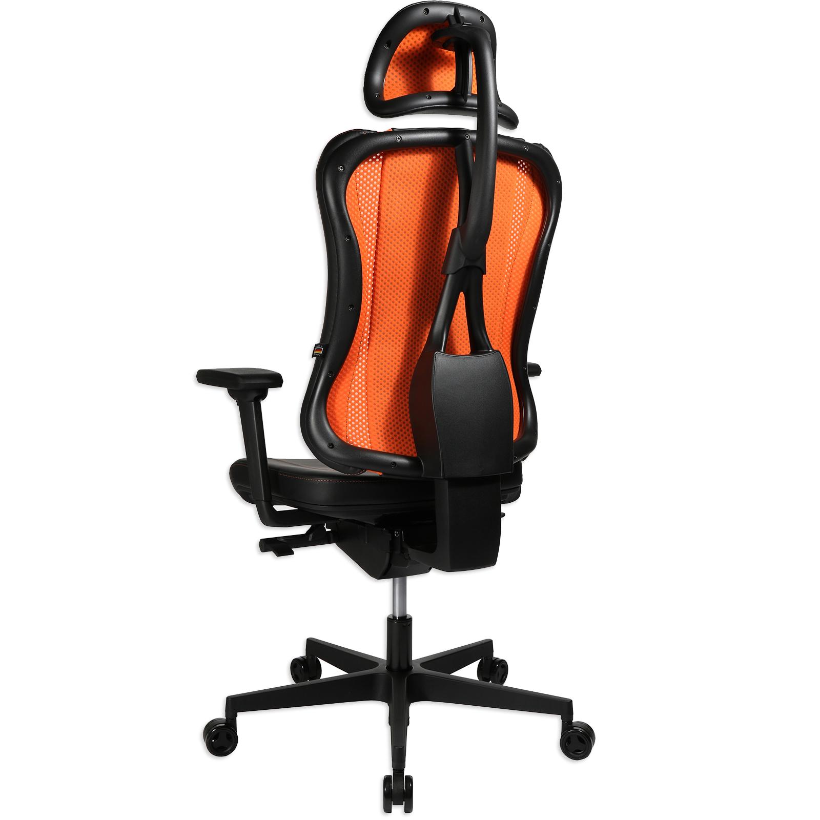 Gaming Stuhl Schwarz Orange Kunstleder