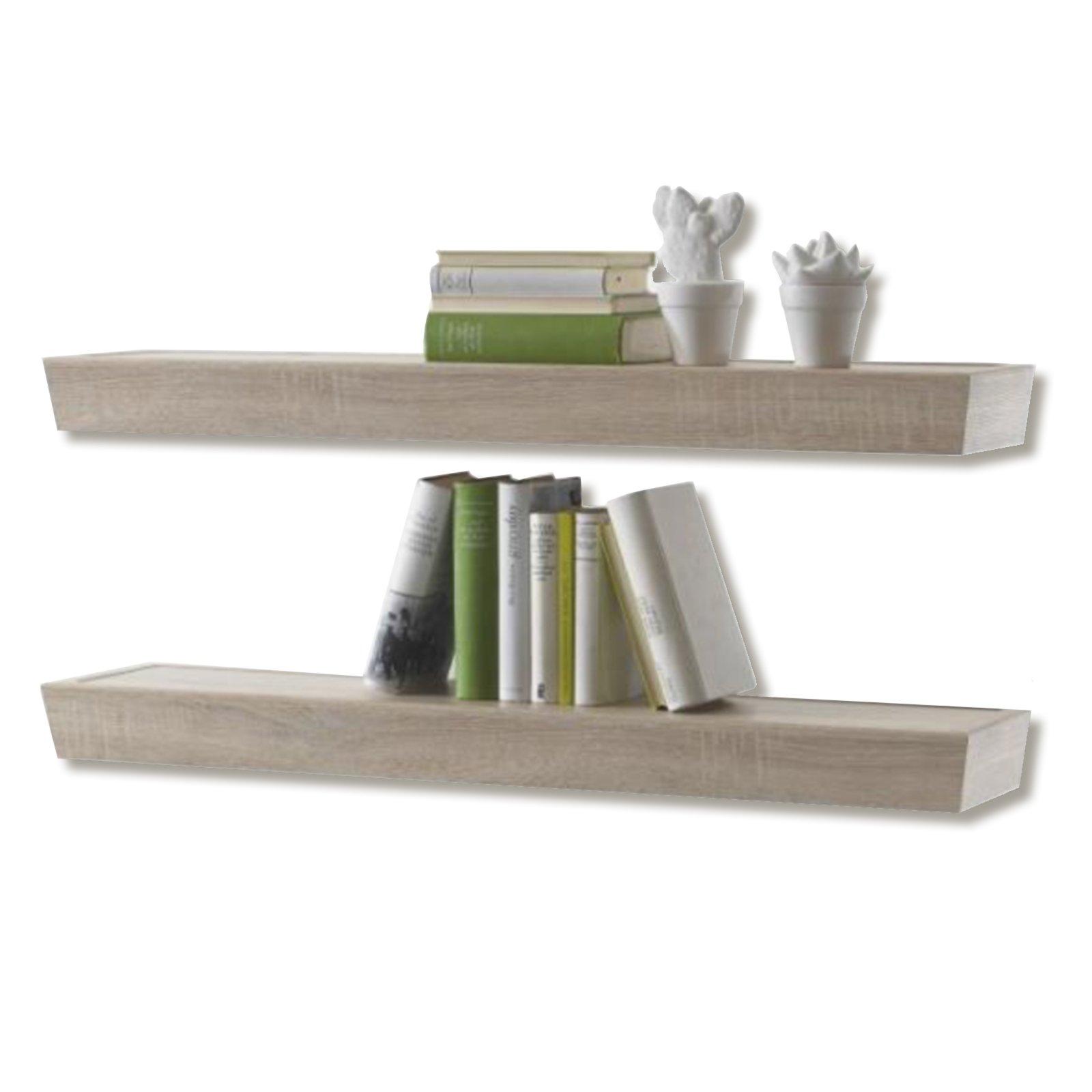 2er set wandboard fernando sonoma eiche 100 cm wohnwand fernando wohnwand elemente. Black Bedroom Furniture Sets. Home Design Ideas