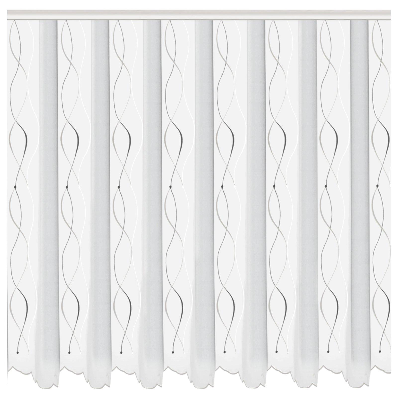 gardine swing wei anthrazit 300x140 cm transparente gardinen gardinen vorh nge deko. Black Bedroom Furniture Sets. Home Design Ideas