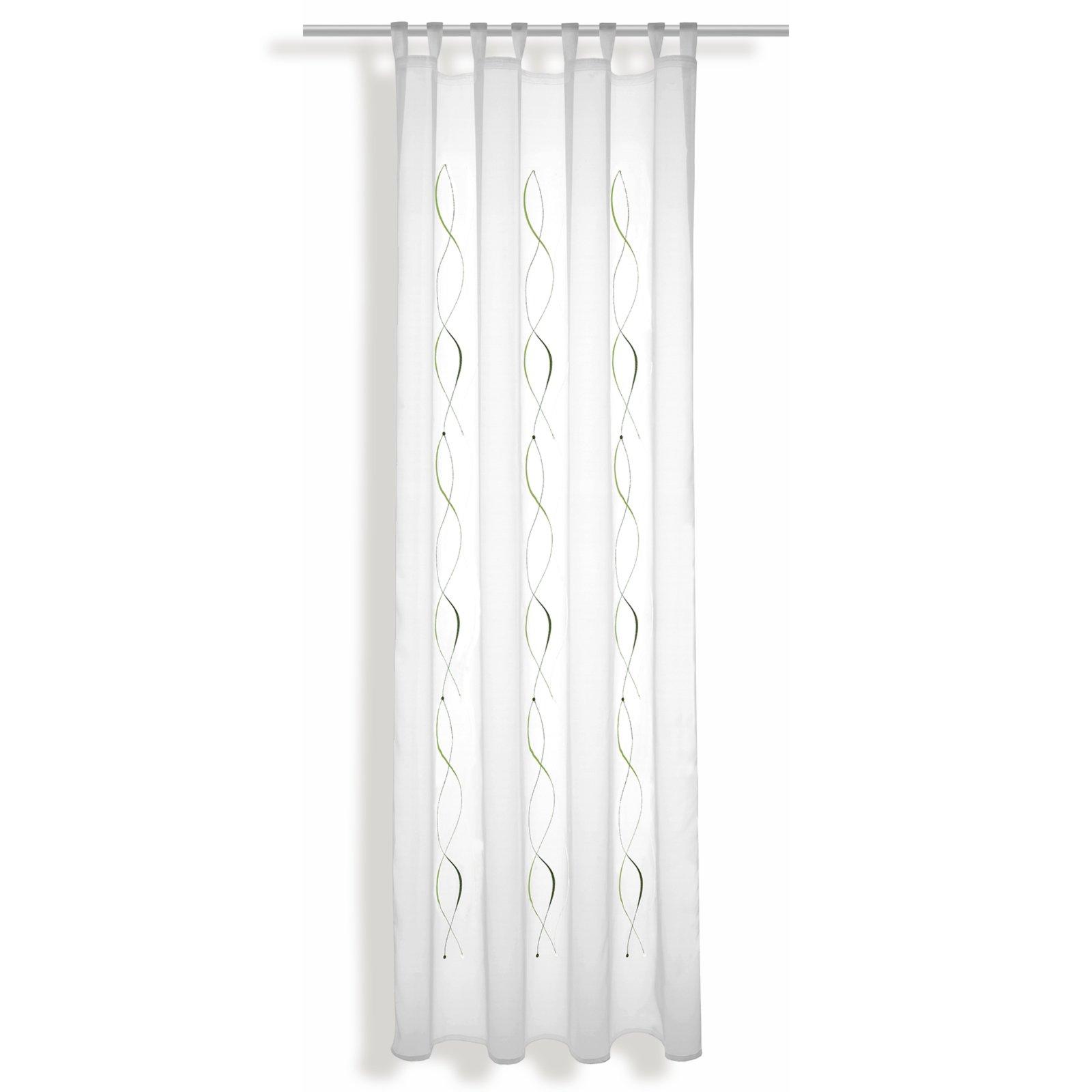 stick schlaufenschal wei gr n 140x245 cm transparente gardinen gardinen vorh nge. Black Bedroom Furniture Sets. Home Design Ideas