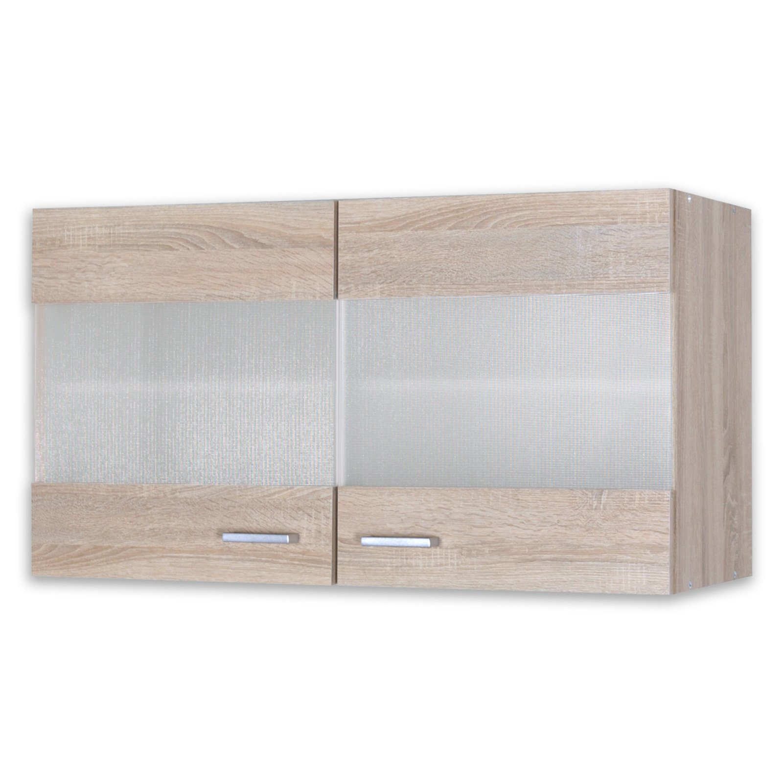glas h ngeschrank sinja sonoma eiche 100x35 cm h ngeschr nke einzelschr nke. Black Bedroom Furniture Sets. Home Design Ideas