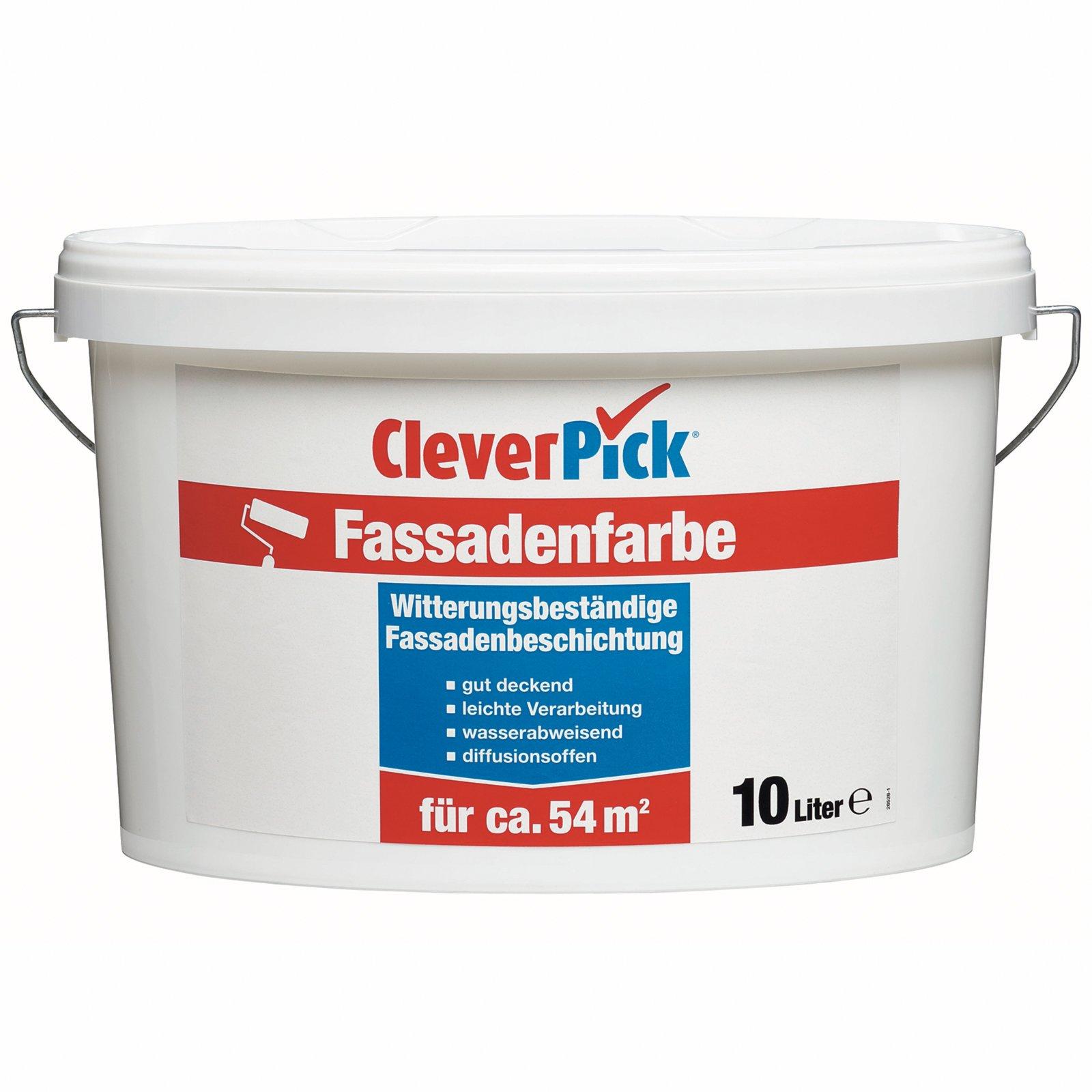 CleverPick Fassadenfarbe - weiß - 10 Liter   Spezialfarben   Farben ...