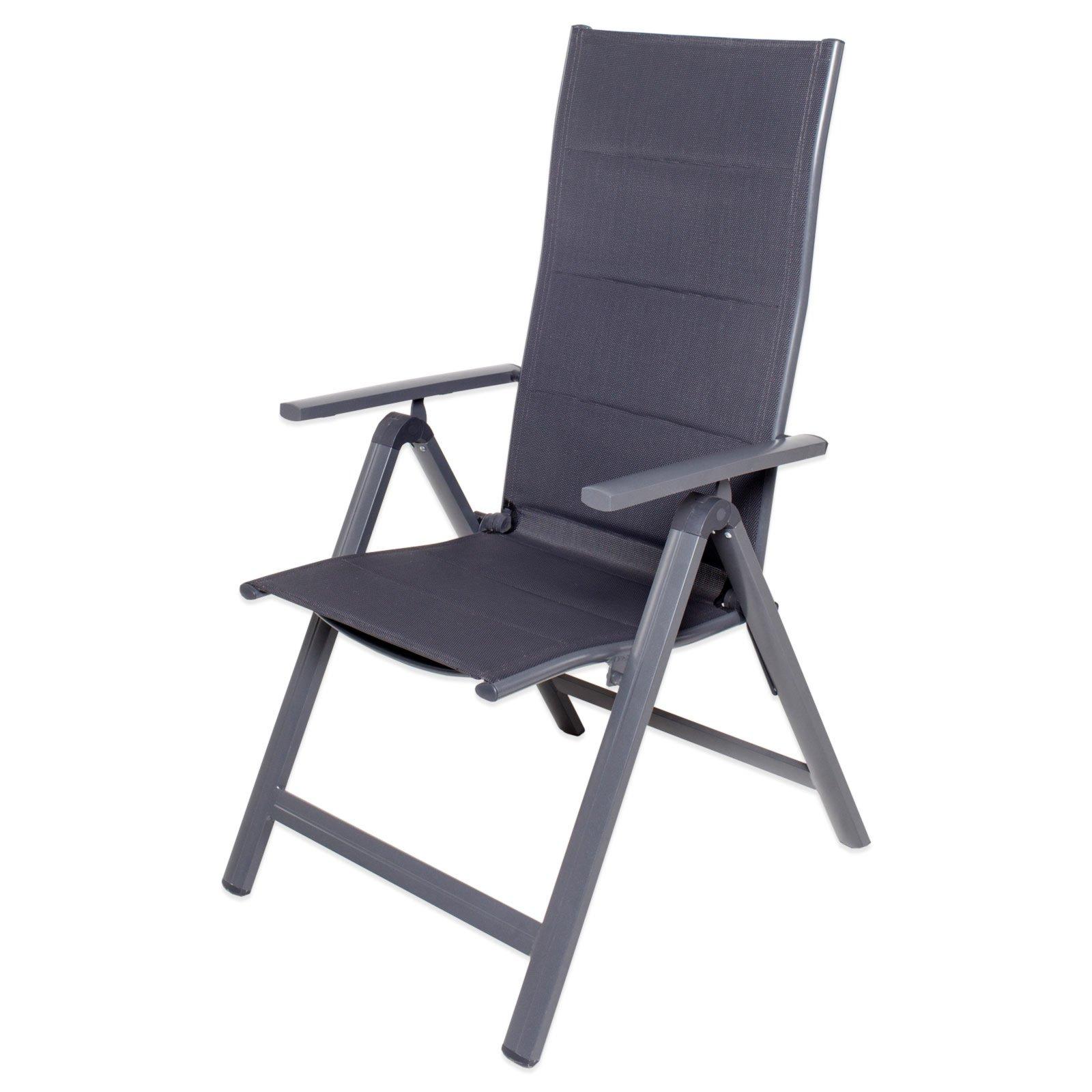 gartenstuhl anthrazit klappbar gartenst hle gartenm bel garten roller. Black Bedroom Furniture Sets. Home Design Ideas