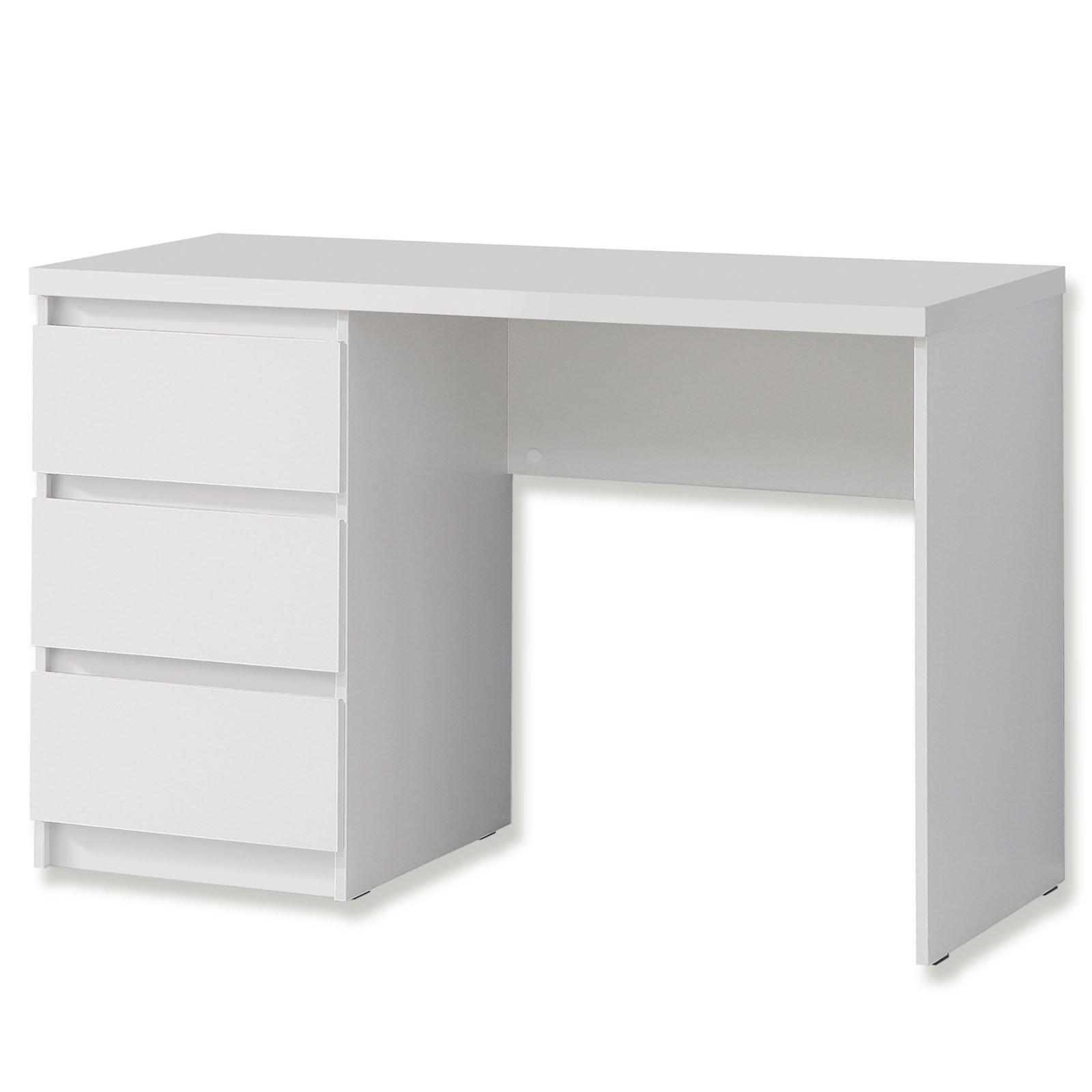 schreibtisch net106 wei matt 108 cm rechteckige schreibtische schreibtische m bel. Black Bedroom Furniture Sets. Home Design Ideas