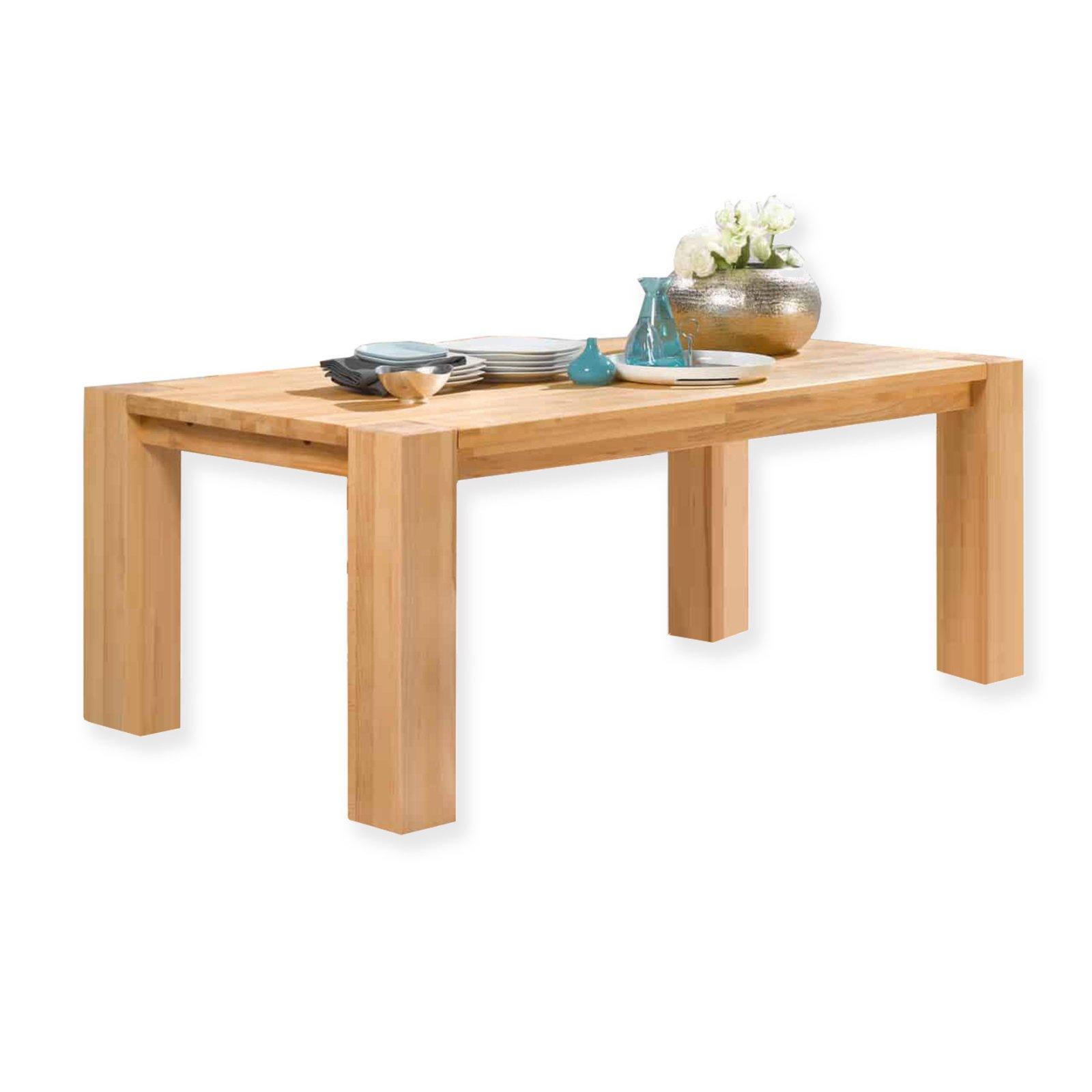 Tisch enzo kernbuche massiv ge lt esstische sitzen essen esszimmer wohnbereiche - Roller esszimmer ...