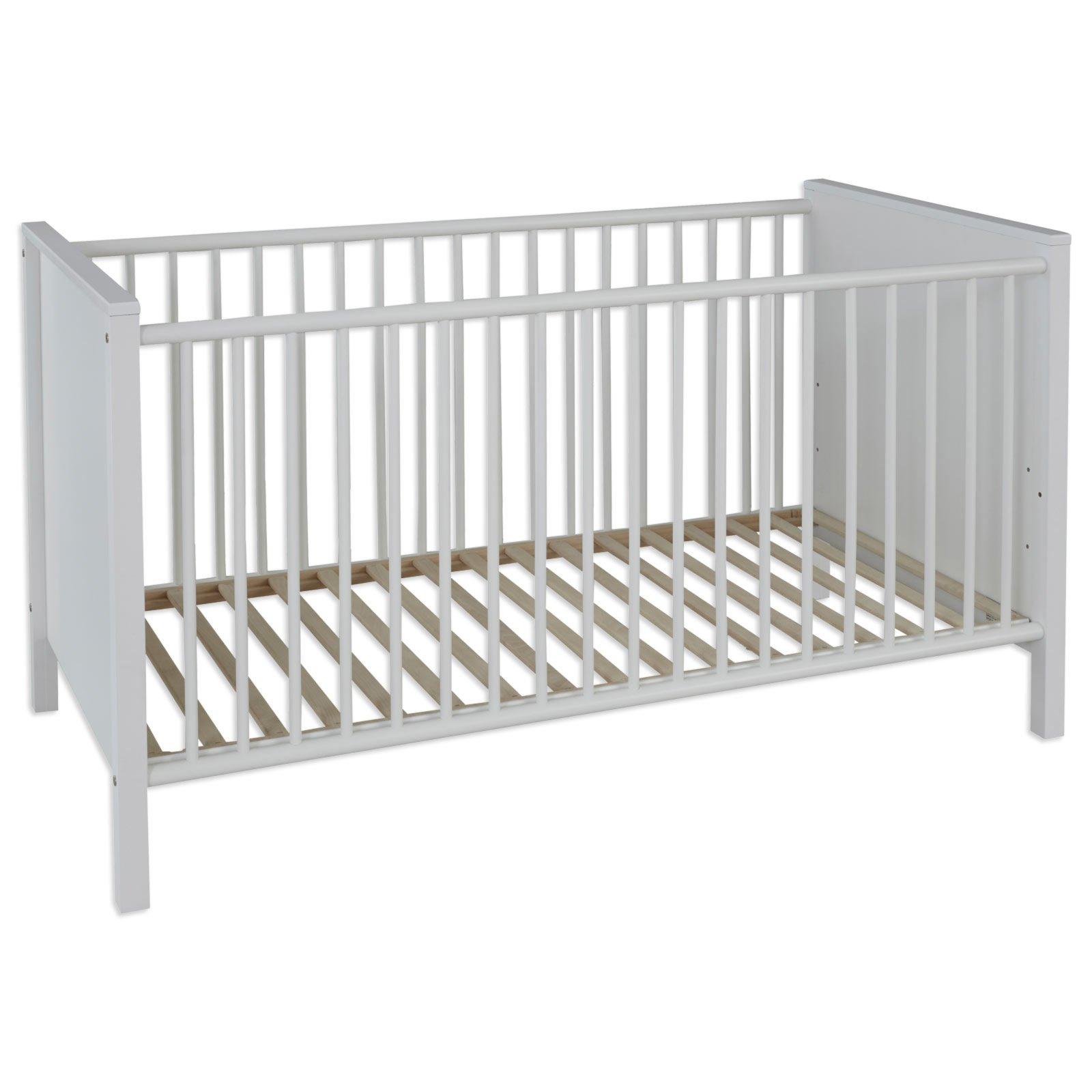 babybett ole wei 70x140 cm babybetten kinderbetten betten m bel roller m belhaus. Black Bedroom Furniture Sets. Home Design Ideas