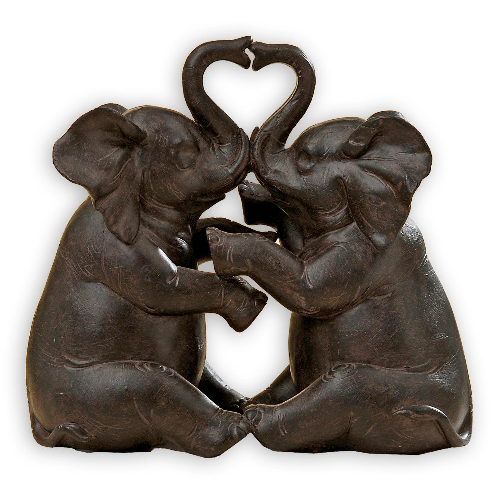 Elefanten-Paar - Kunstharz