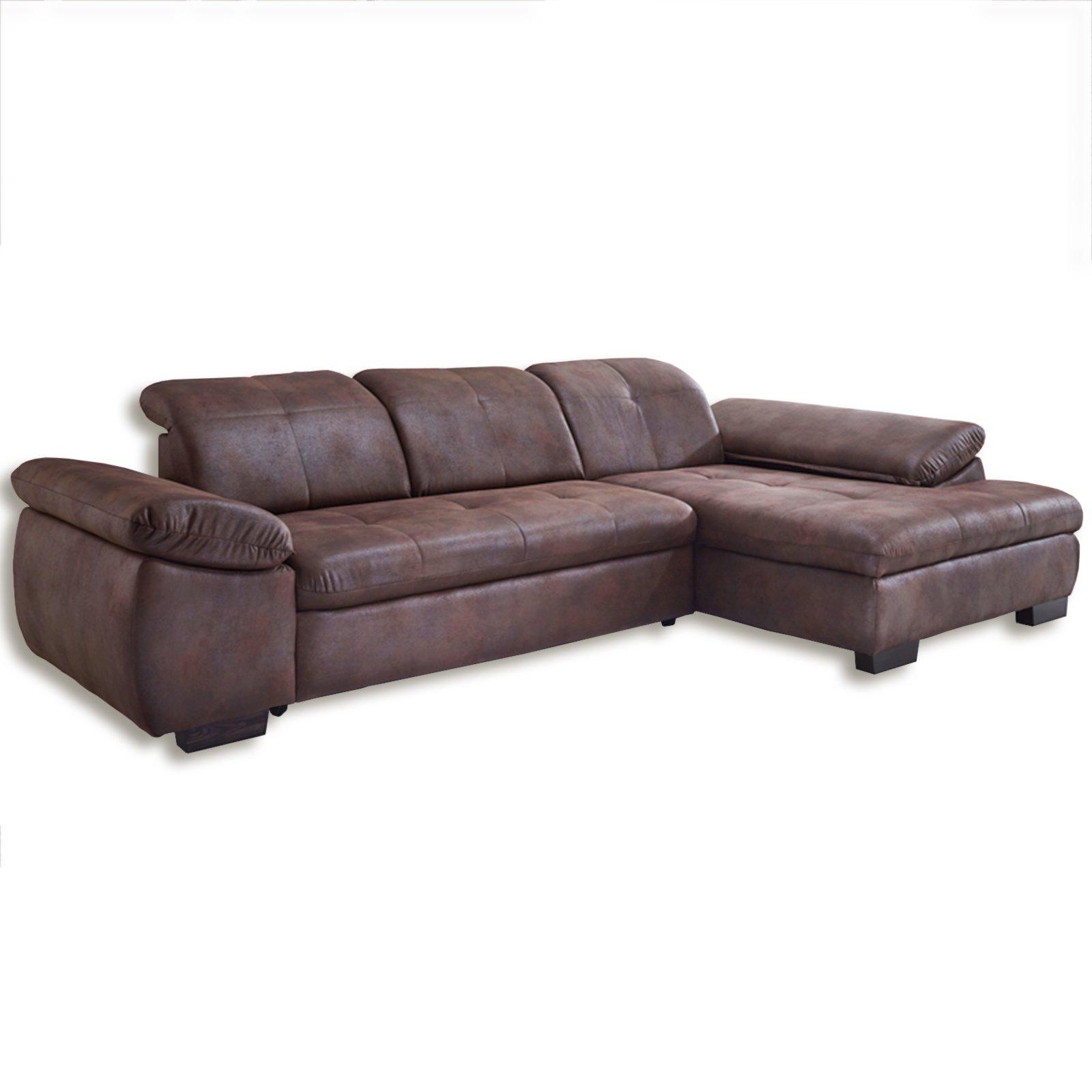 ecksofa braun kopfteilverstellung ecksofas l form sofas couches m bel roller m belhaus. Black Bedroom Furniture Sets. Home Design Ideas