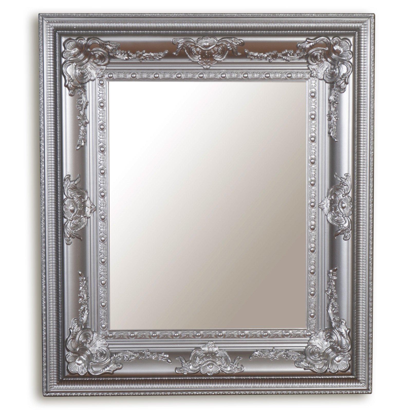wandspiegel silber holz wandspiegel spiegel deko. Black Bedroom Furniture Sets. Home Design Ideas