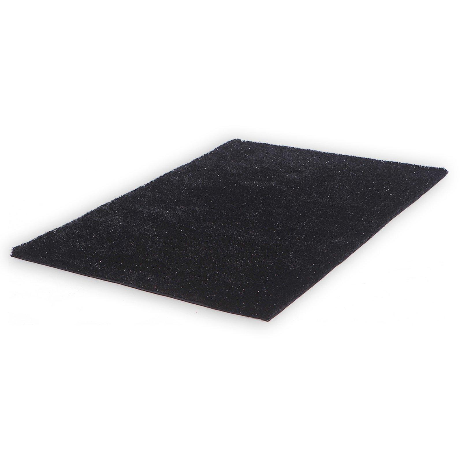 teppich shaggy stella schwarz 60x90 cm hochflor shaggyteppiche teppiche l ufer. Black Bedroom Furniture Sets. Home Design Ideas