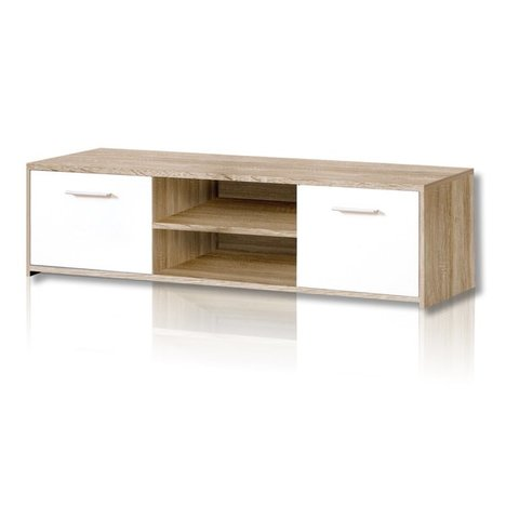 tv unterschrank quadro sonoma eiche wei tv lowboards. Black Bedroom Furniture Sets. Home Design Ideas