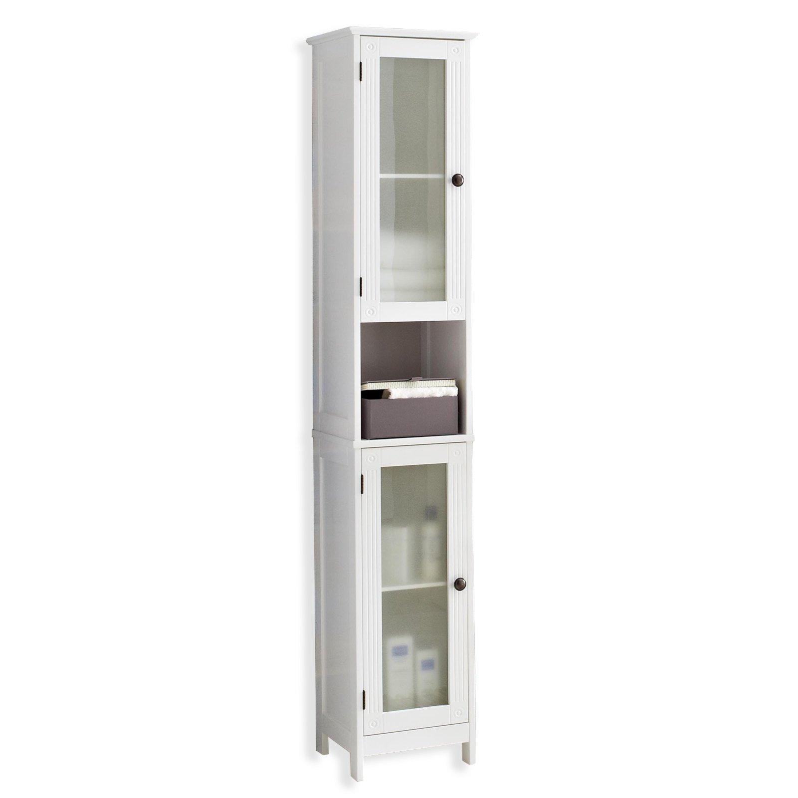 hochschrank maxim wei hochglanz glas badezimmer. Black Bedroom Furniture Sets. Home Design Ideas