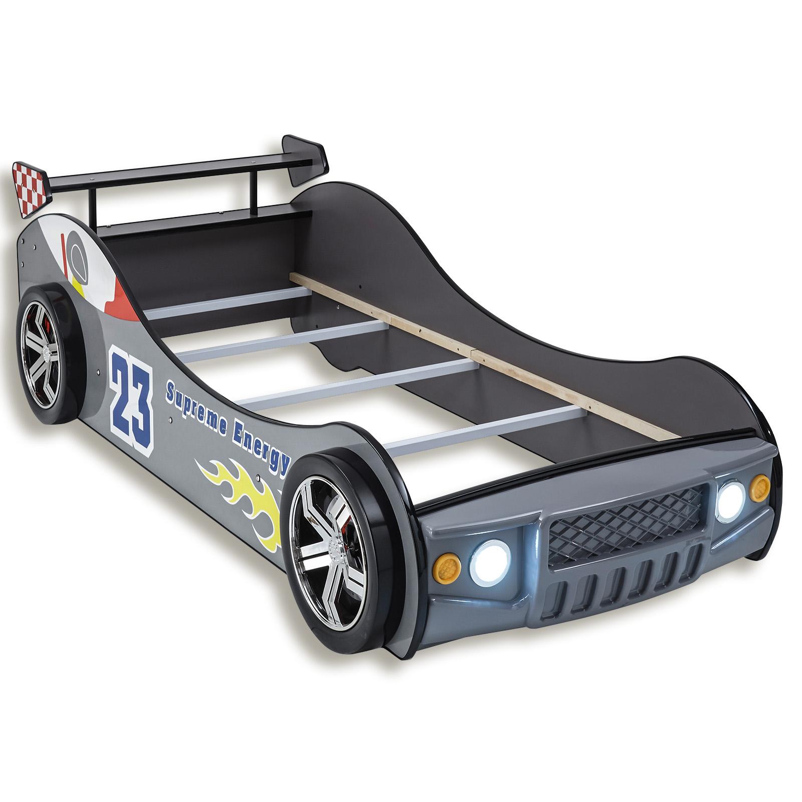 Autobett Silber Mit Beleuchtung 90x200 Cm