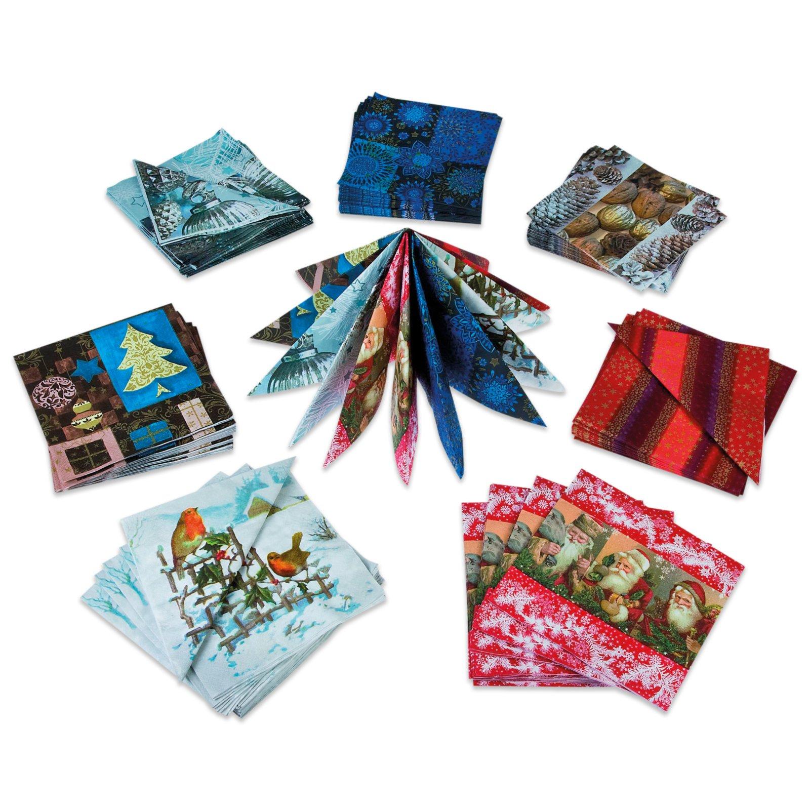 weihnachtsservietten sortierte motive 20er pack servietten haushalts k chenzubeh r. Black Bedroom Furniture Sets. Home Design Ideas