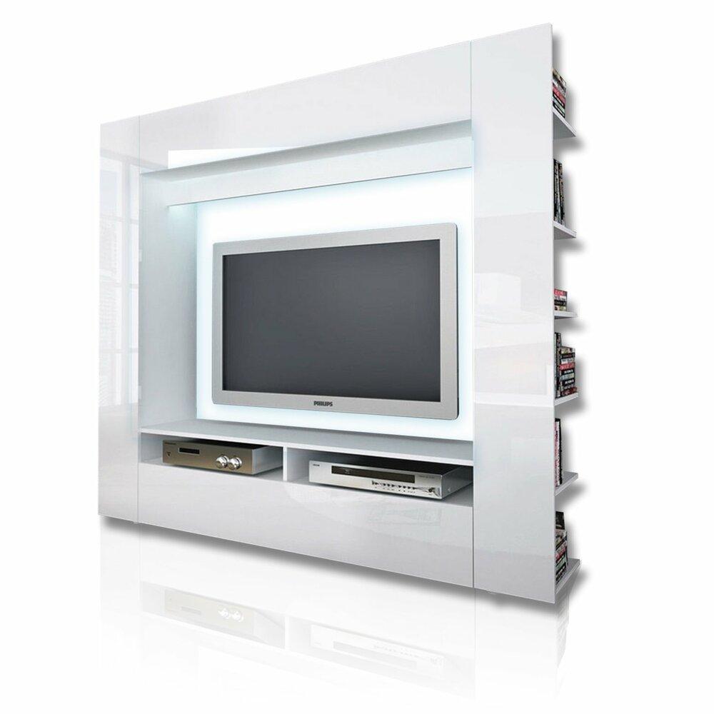 TV-Wand OLLI - weiß Hochglanz | ROLLER Möbelhaus