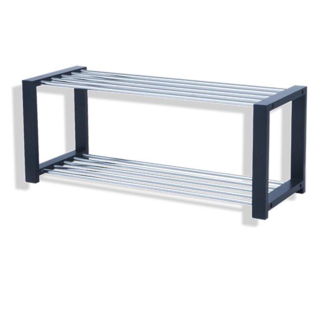 schuhregal 14427 chrom schwarz metall schuhregale. Black Bedroom Furniture Sets. Home Design Ideas