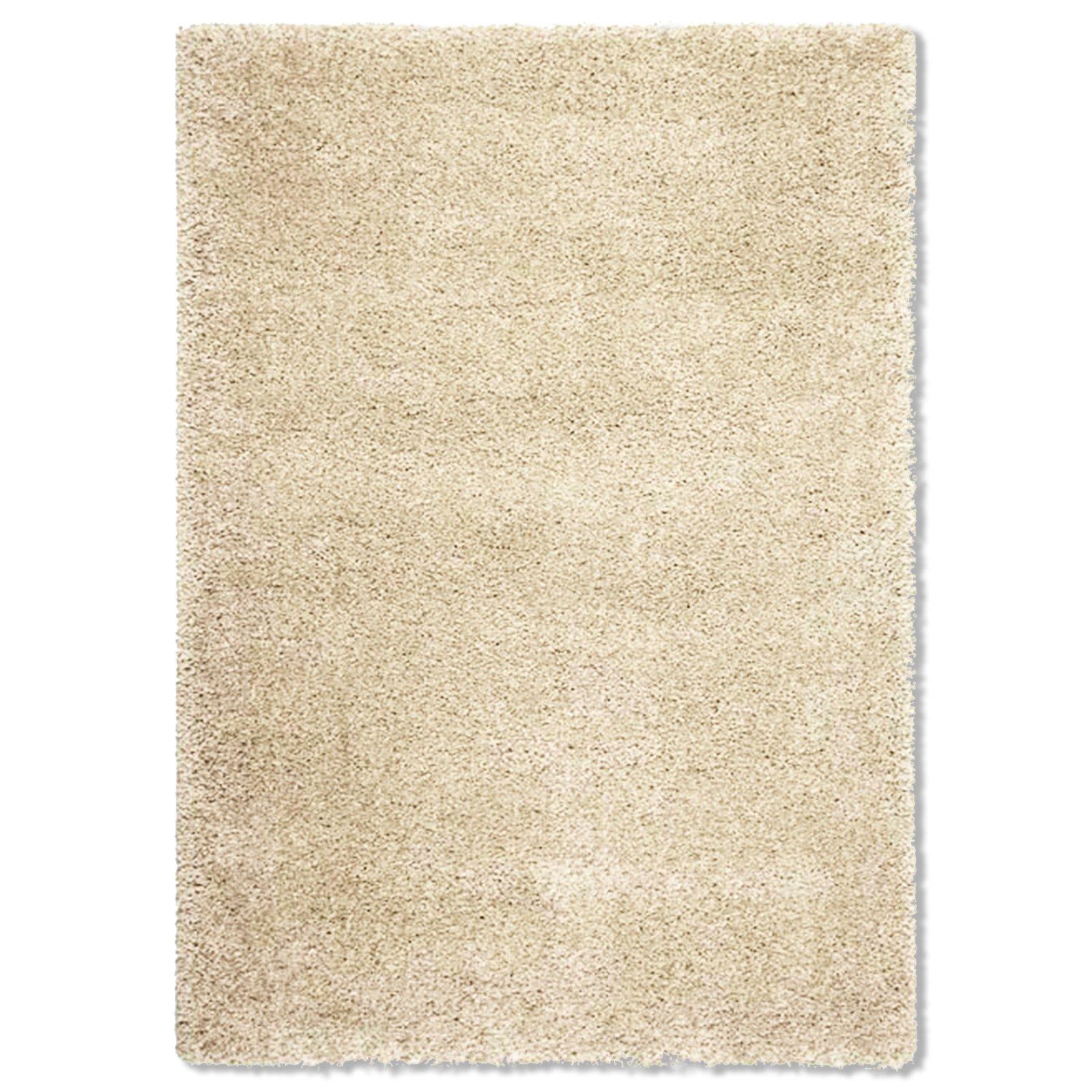 teppich shaggy de luxe beige braun 120x170 cm. Black Bedroom Furniture Sets. Home Design Ideas