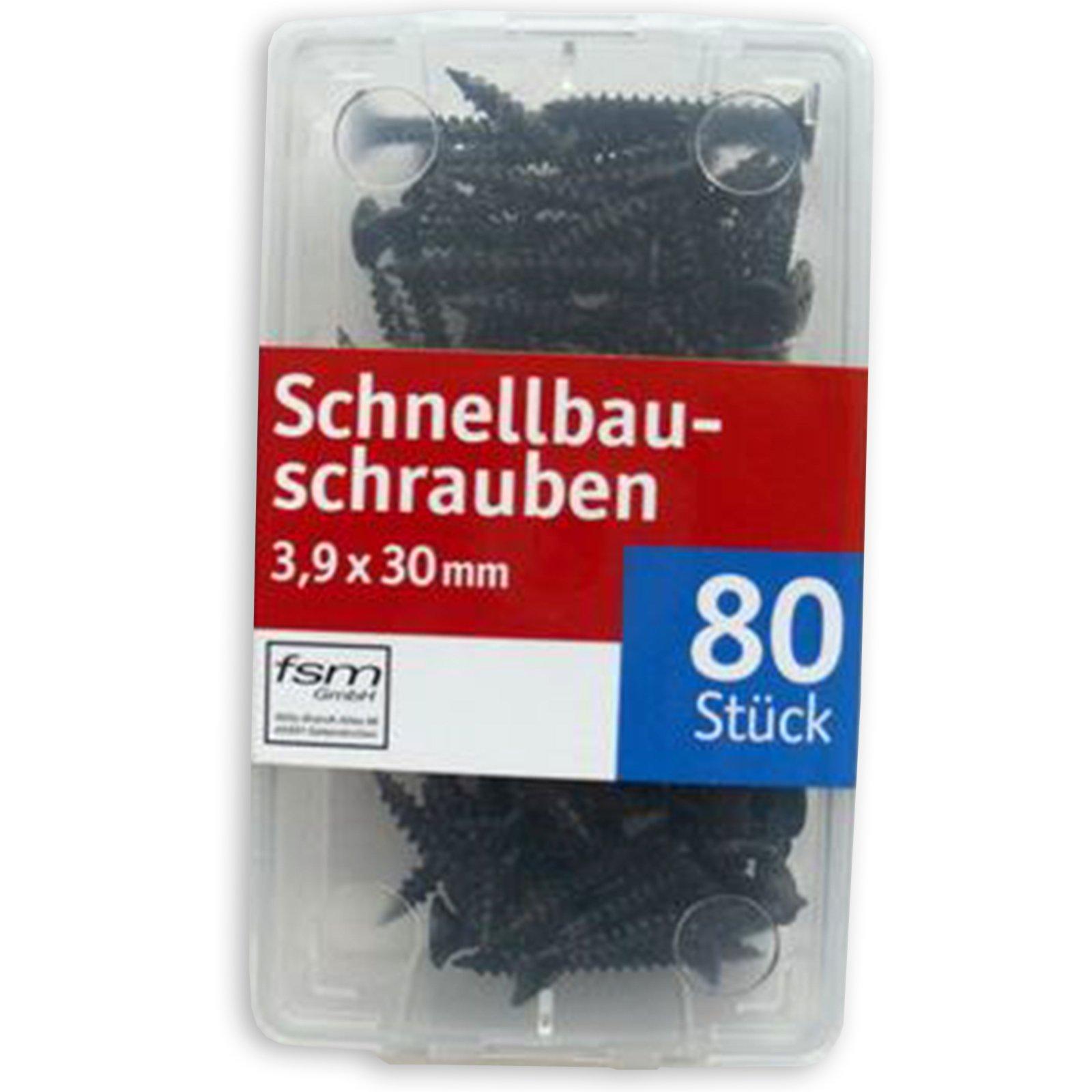 Schnellbauschrauben - Stahl - 80 Stück - 30 mm