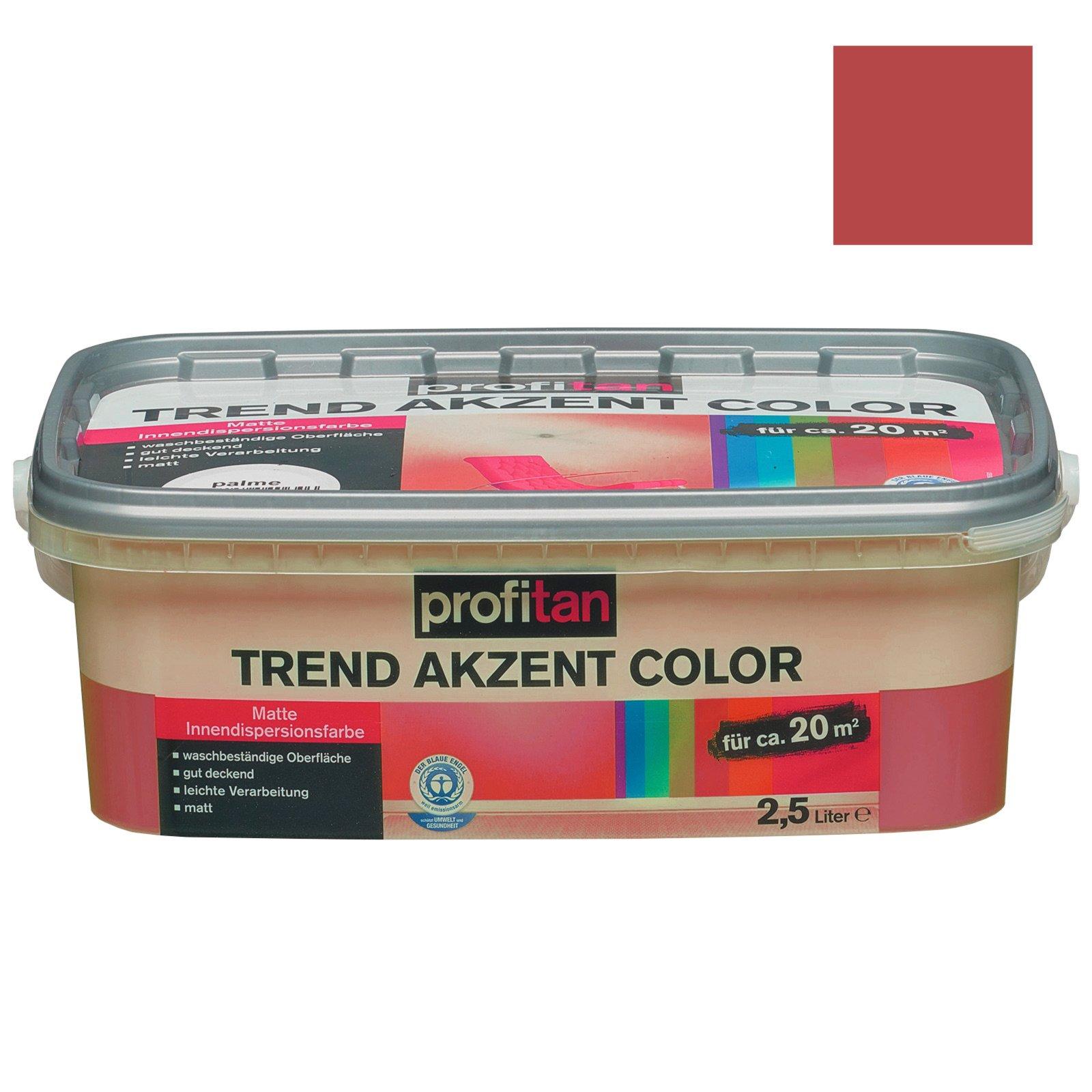 profitan wandfarbe trend akzent color vulkan matt 2 5 liter wandfarben deckenfarben. Black Bedroom Furniture Sets. Home Design Ideas