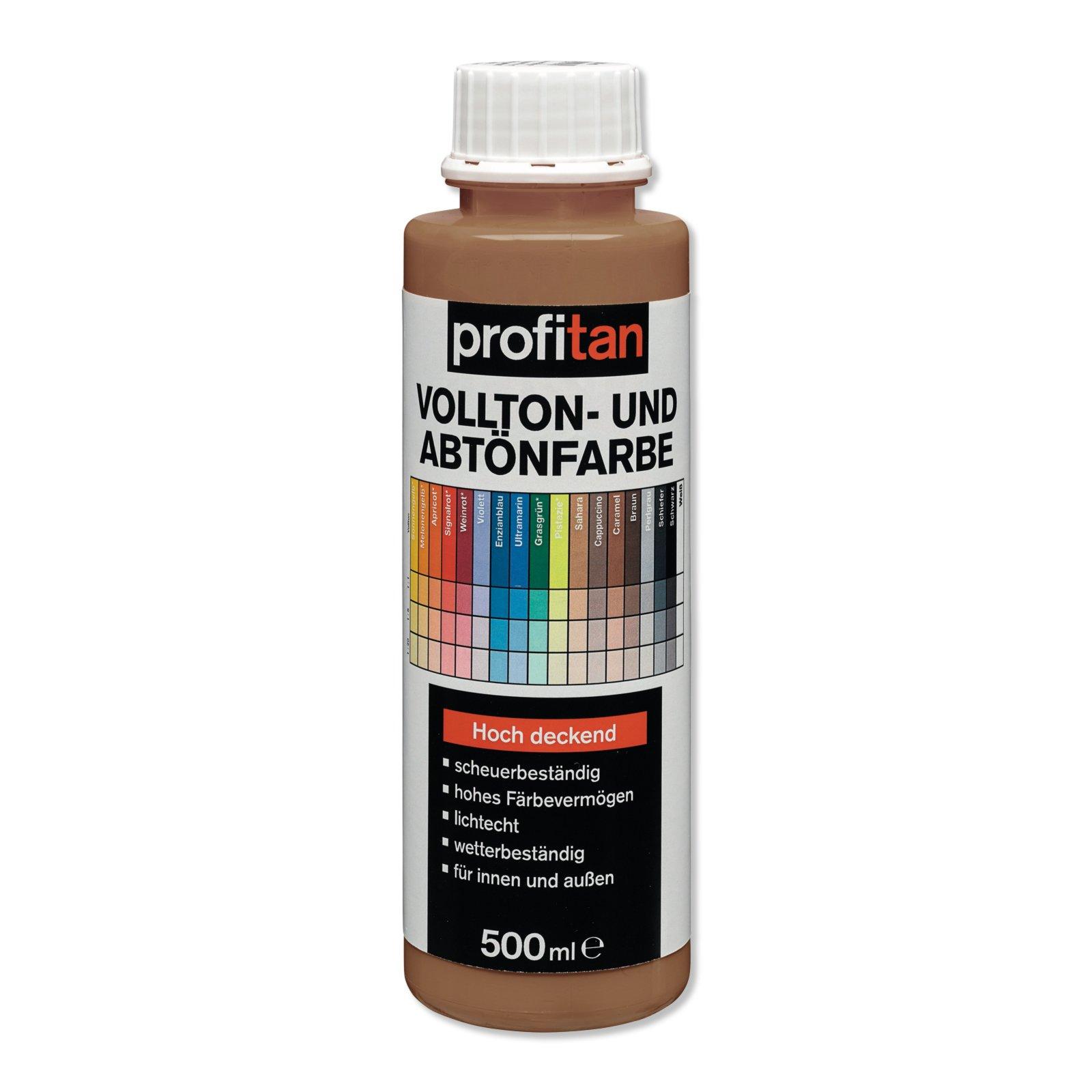 Vollton- und Abtönfarbe profitan - caramel - 500 ml