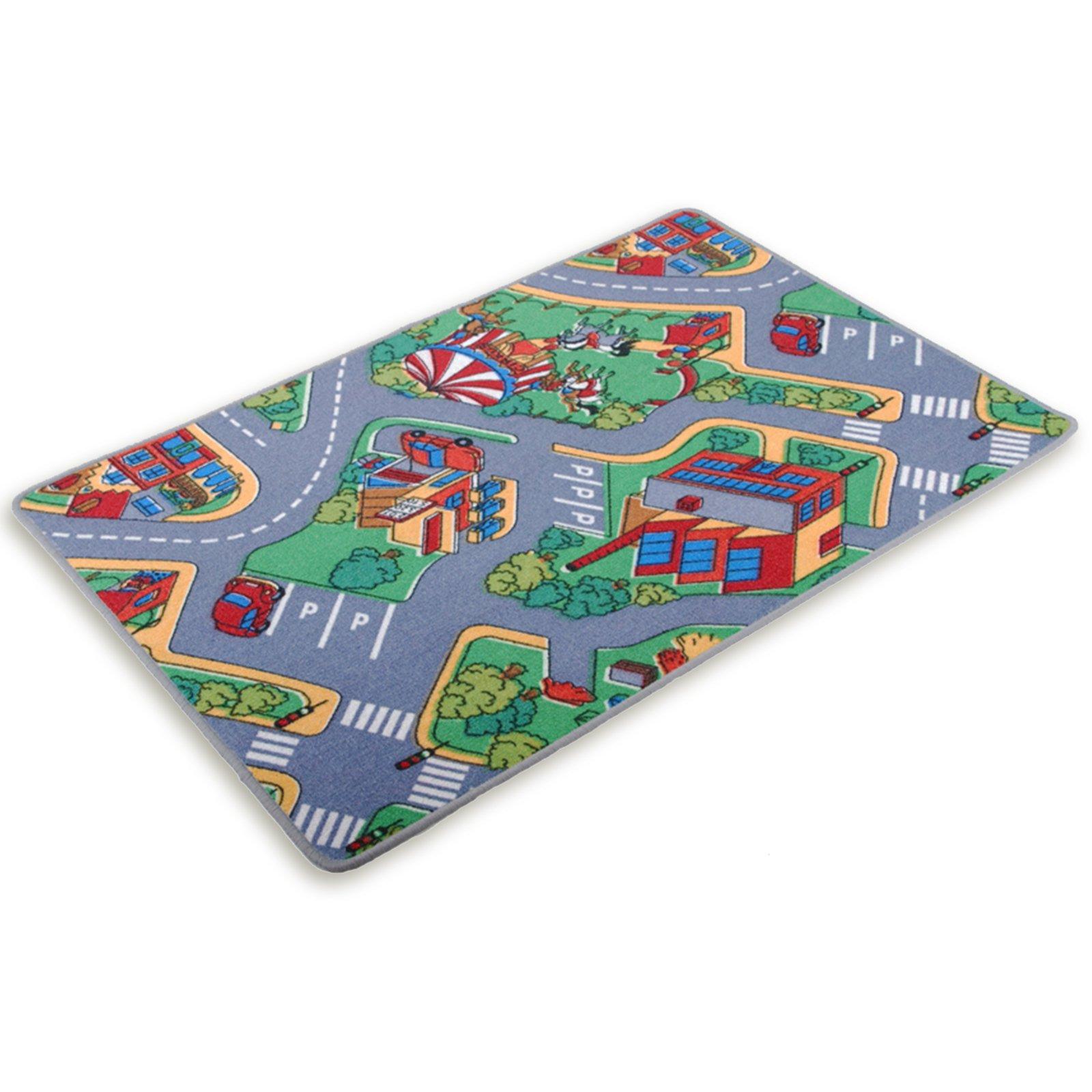 kinder spielteppich autobahn 140x200 cm kinder spielteppiche teppiche l ufer deko. Black Bedroom Furniture Sets. Home Design Ideas