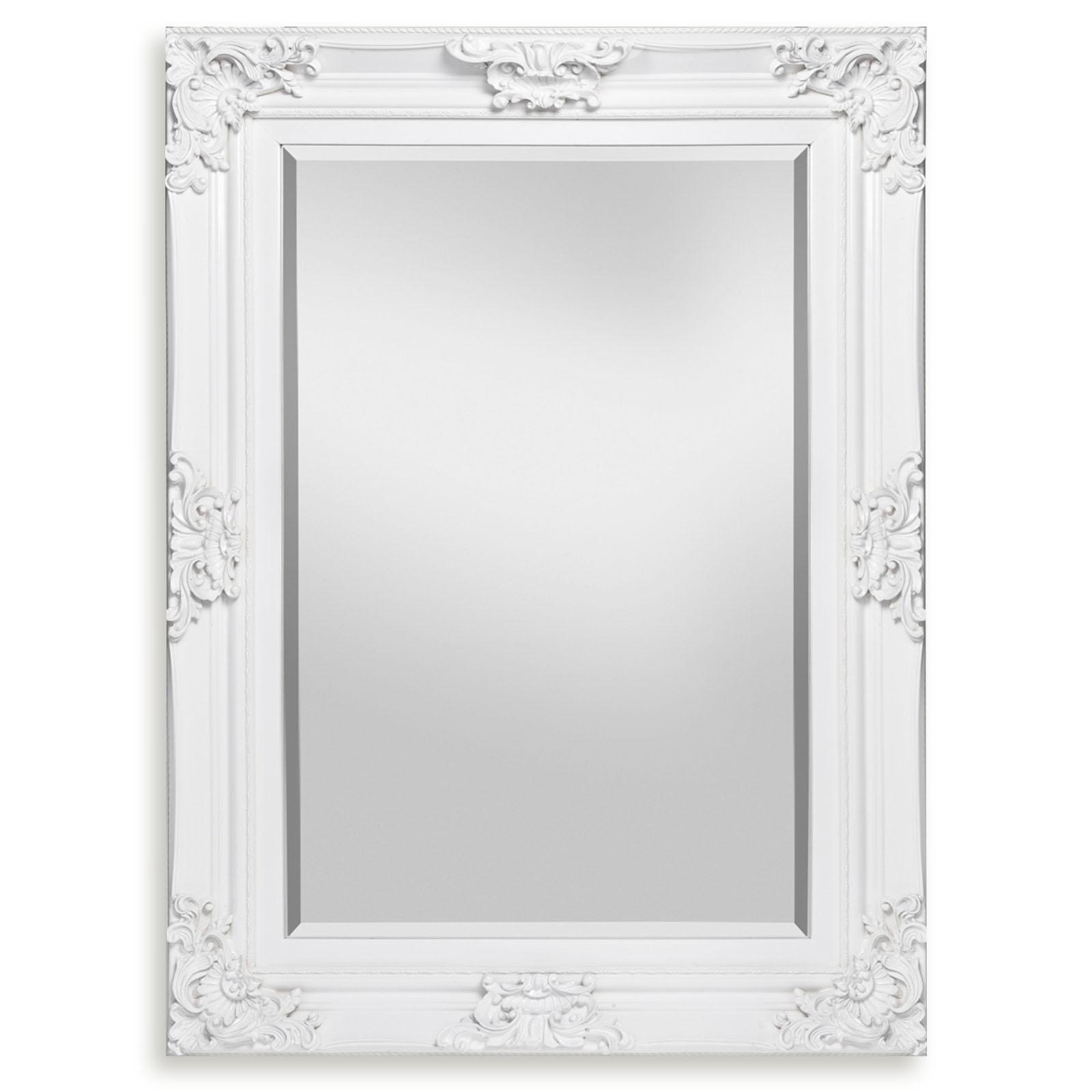 Spiegel - weiß Hochglanz - 8x8 cm