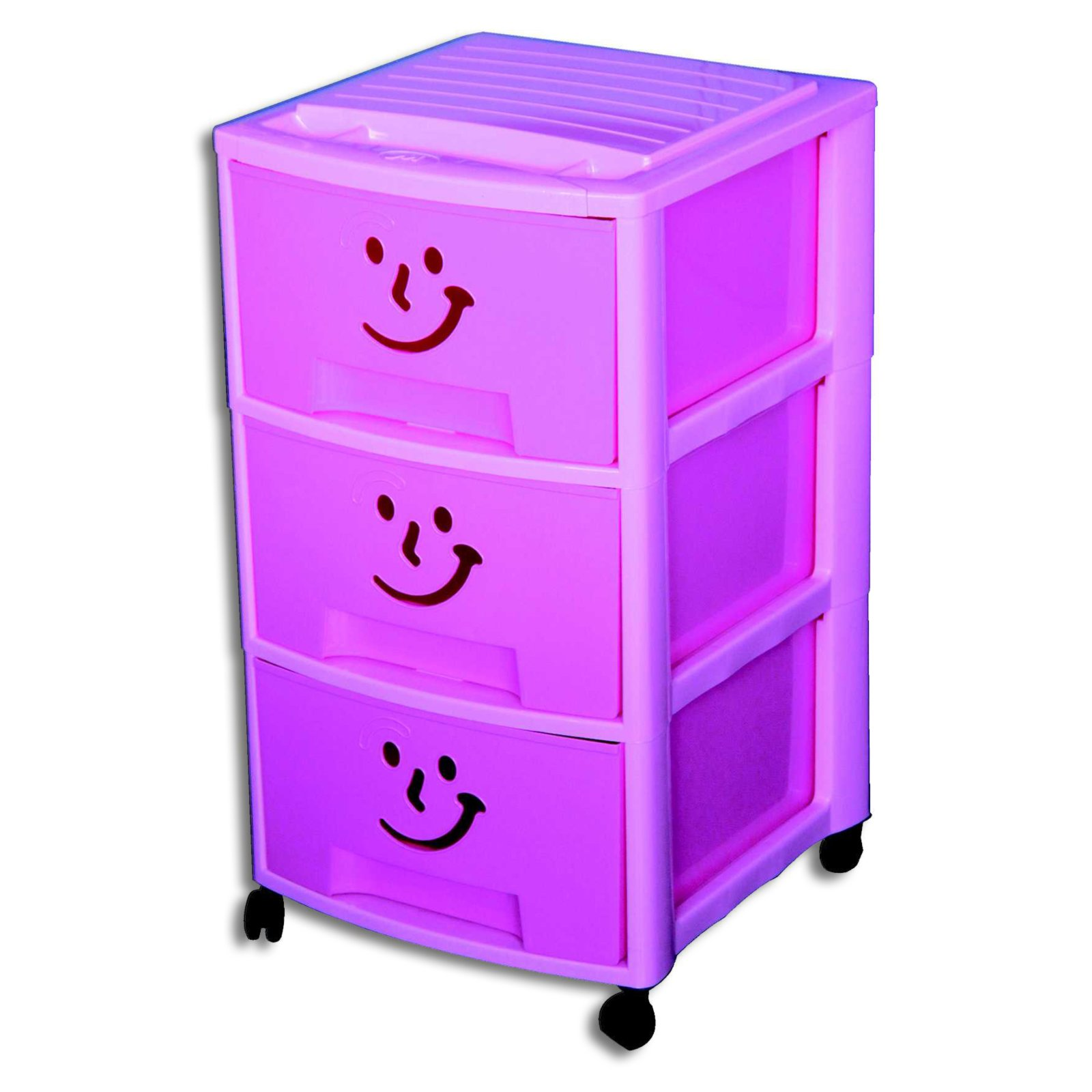 Schubladencontainer Pink Breite 37 Cm