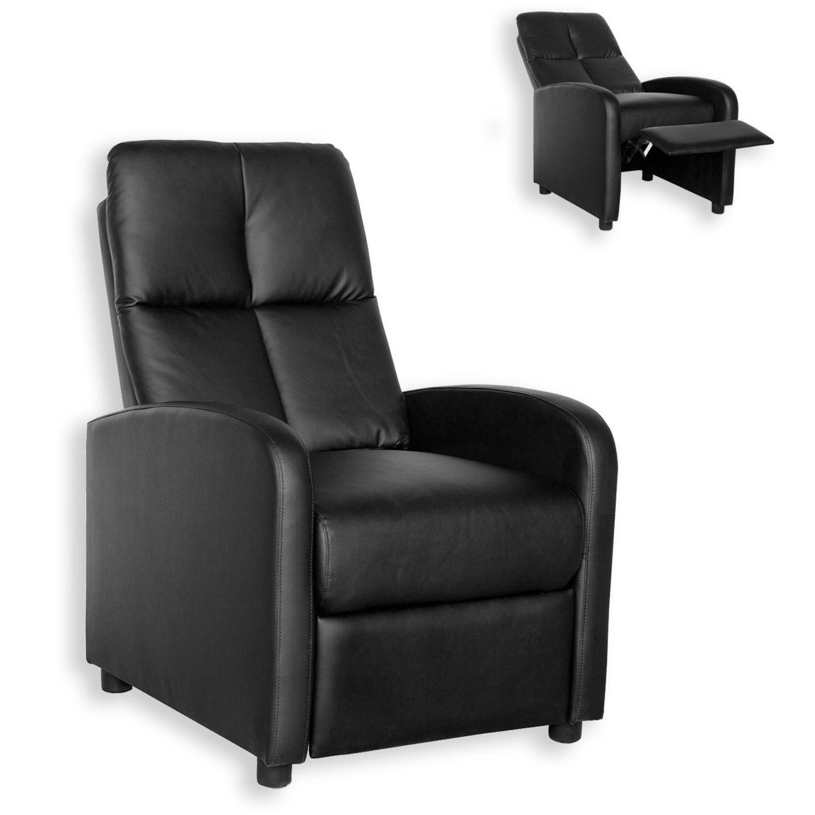 TV Sessel schwarz Federkern Relaxfunktion