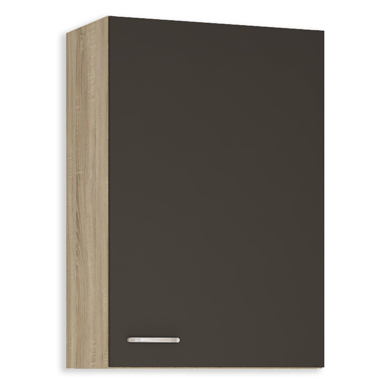 oberschrank fox anthrazit sonoma eiche 60 cm breit. Black Bedroom Furniture Sets. Home Design Ideas
