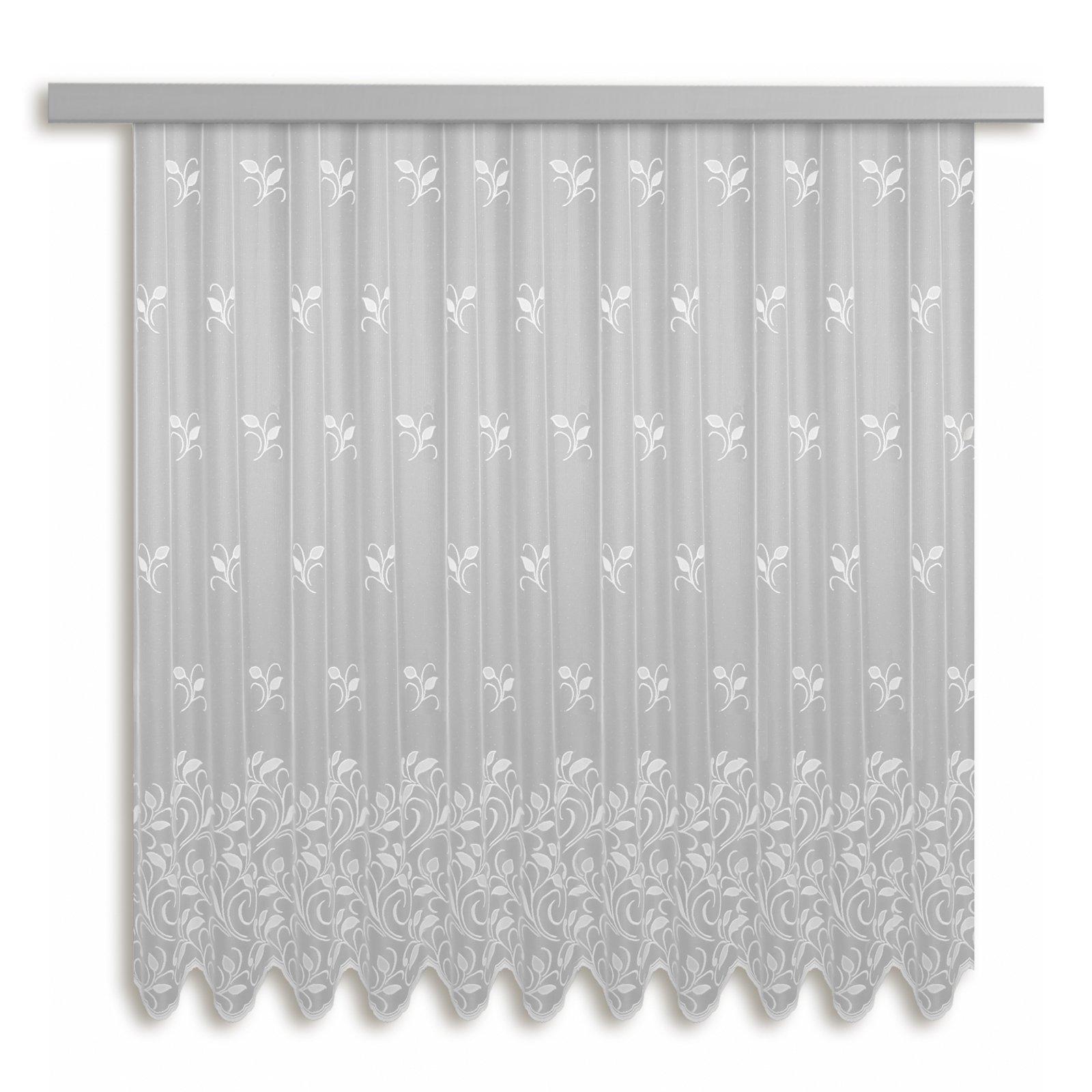 gardine bologna jacquard bogenstore wei 300x175 cm transparente gardinen gardinen. Black Bedroom Furniture Sets. Home Design Ideas