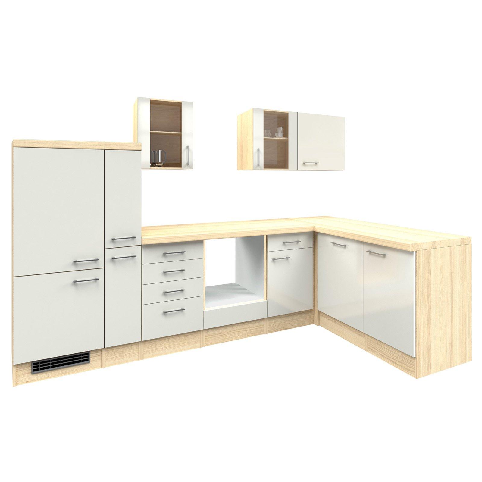 winkelk che abaco perlmutt akazie 310x170 cm. Black Bedroom Furniture Sets. Home Design Ideas