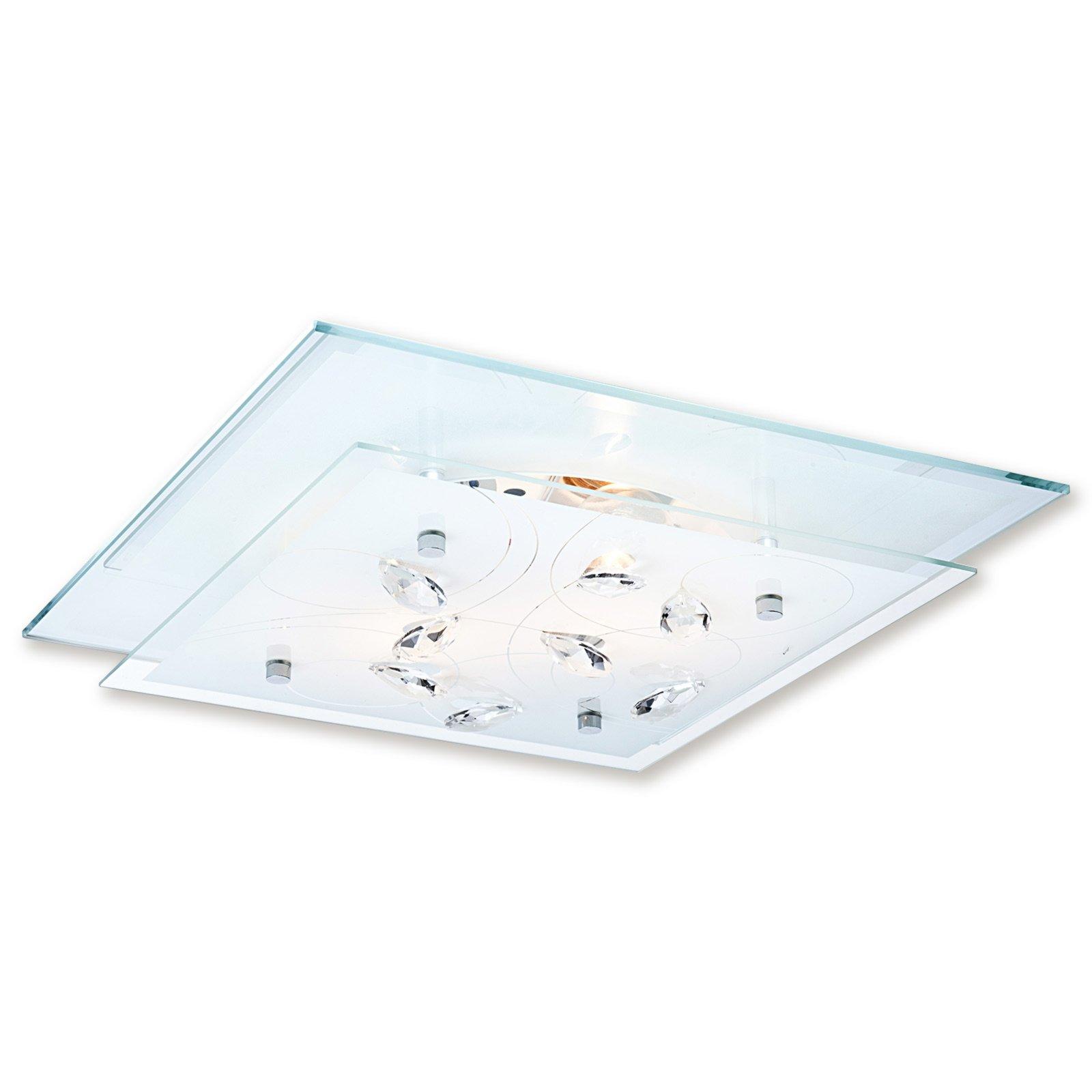 Deckenleuchte jasmina chrom klar glas deckenlampen for Deckenleuchte glas