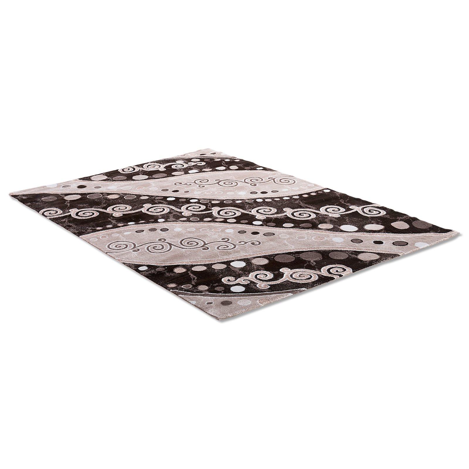 Teppich ELEYSA  braun  80×150 cm  Gemusterte Teppiche