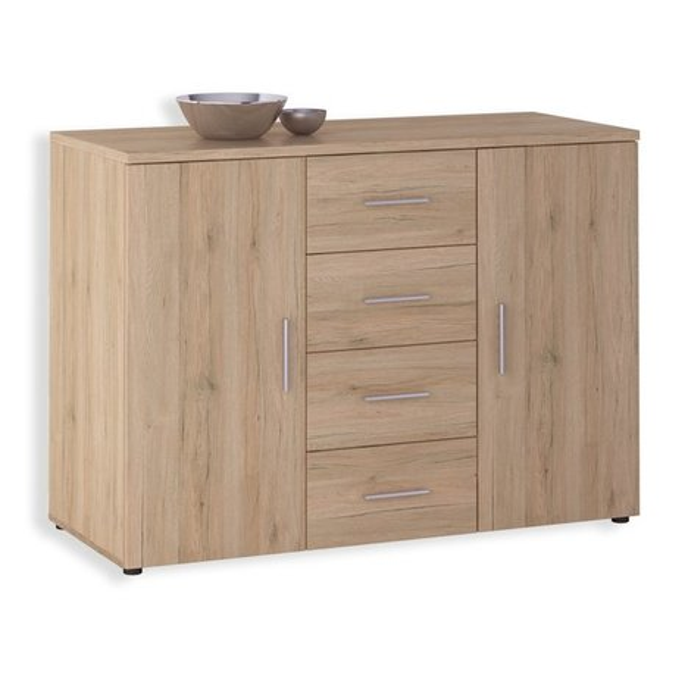 kommode julia san remo eiche 120 cm kommoden. Black Bedroom Furniture Sets. Home Design Ideas