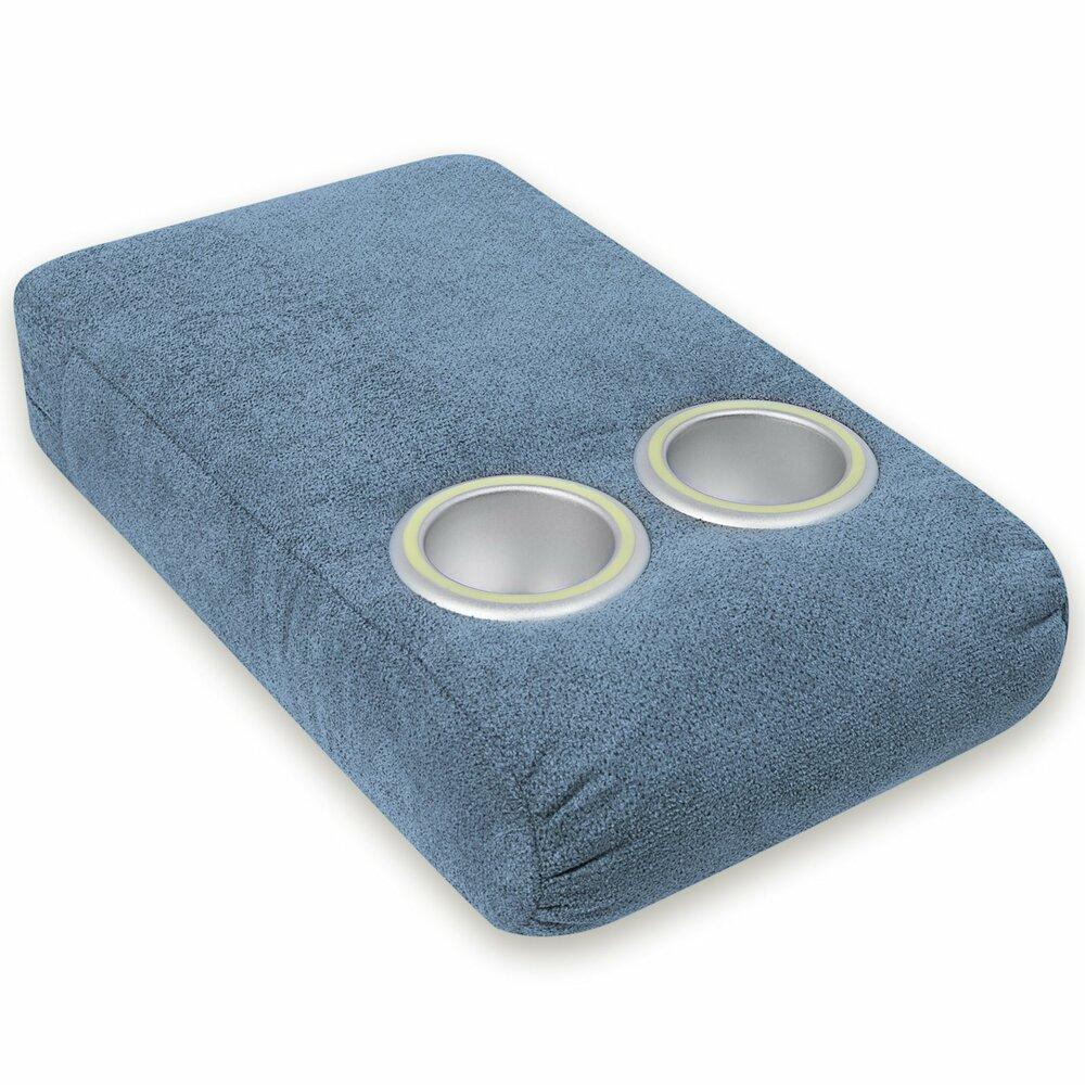 sofabar blaugrau mit nachtlicht polstergarnitur blaugrau microfaser sofagarnituren. Black Bedroom Furniture Sets. Home Design Ideas