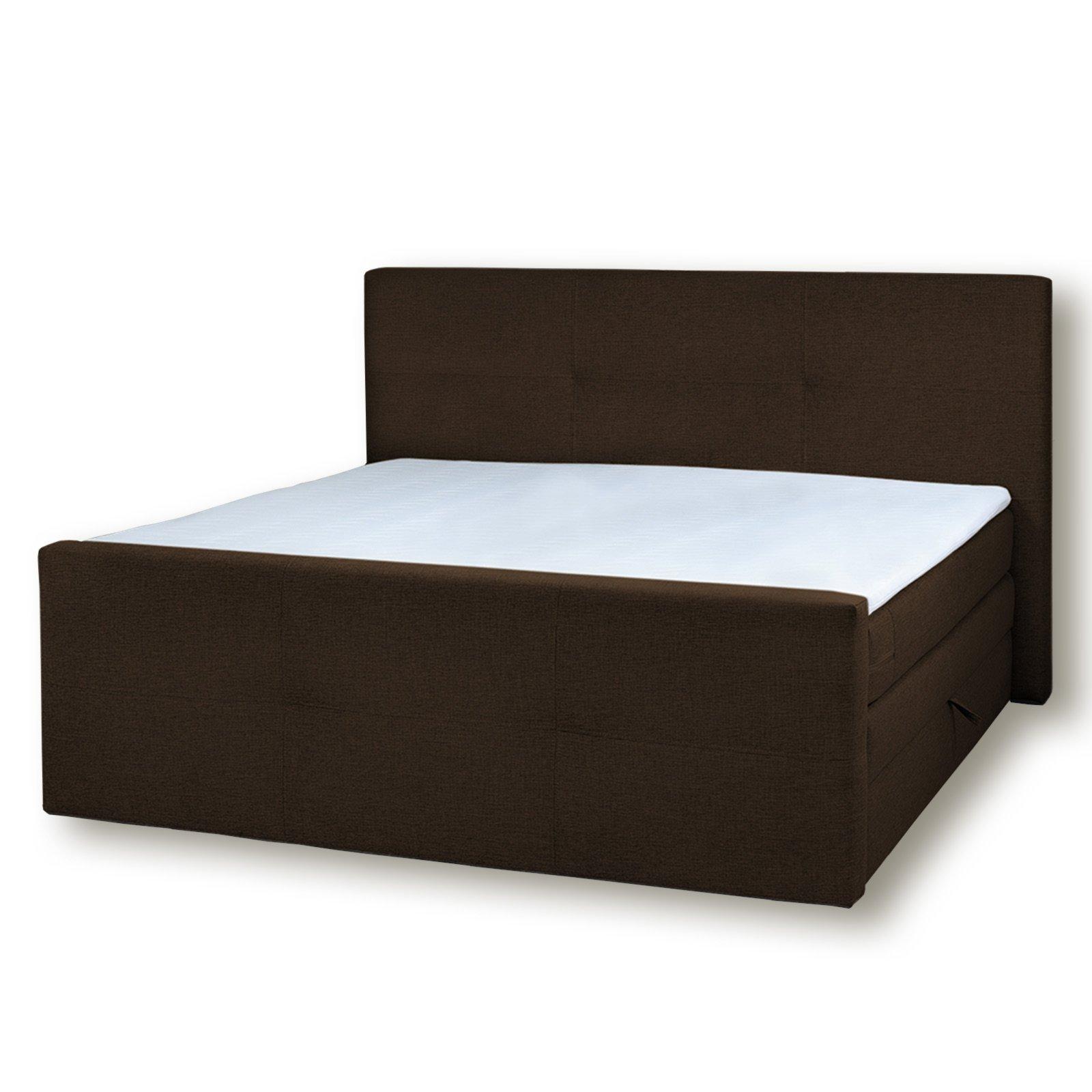 boxspringbett havana braun 160x200 cm boxspringbetten betten m bel roller m belhaus. Black Bedroom Furniture Sets. Home Design Ideas