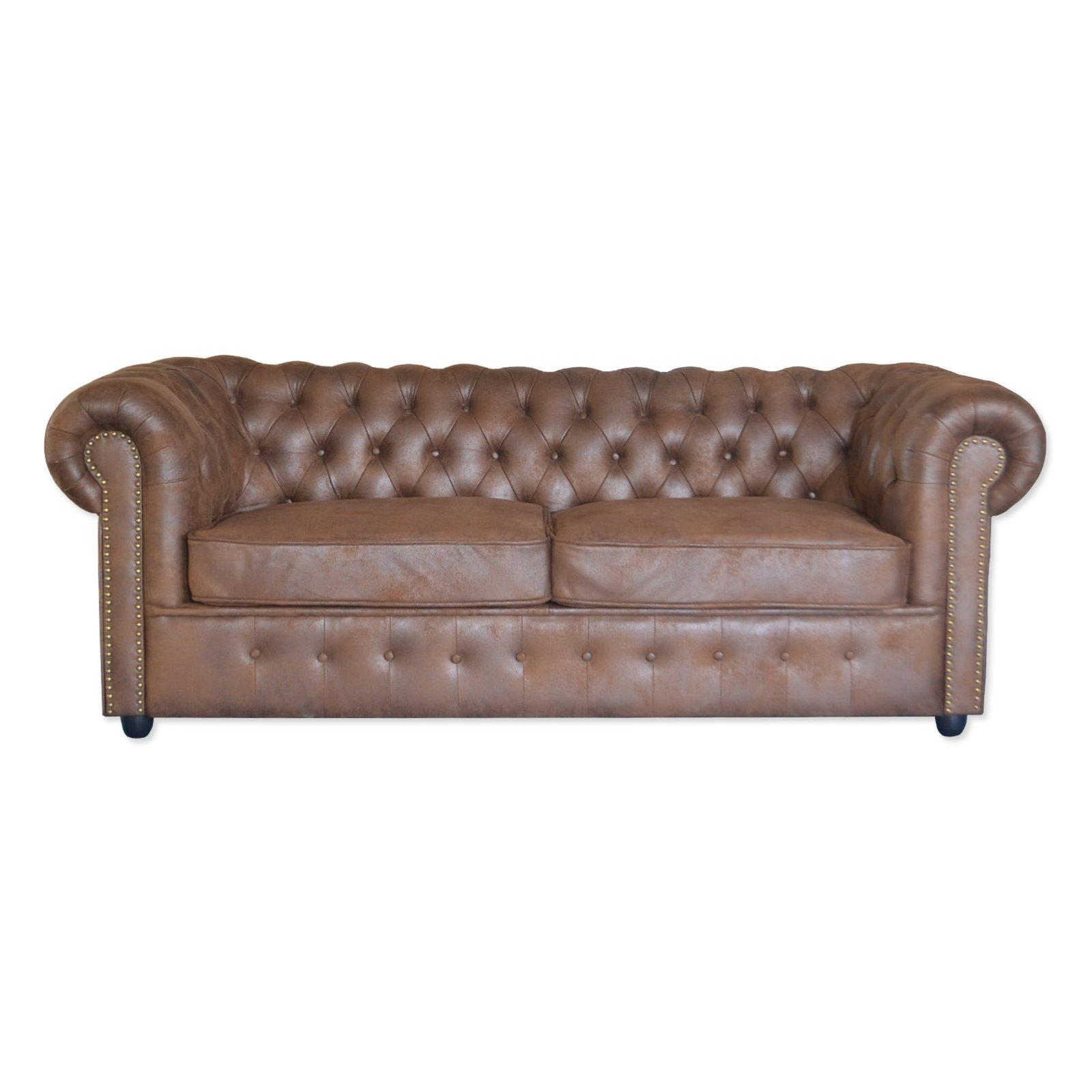 25 Sitzer Big Sofa Braun Vintage Microfaser 211 Cm Big