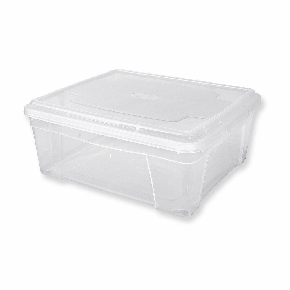 aufbewahrungsbox mit deckel transparent 1 9 liter. Black Bedroom Furniture Sets. Home Design Ideas