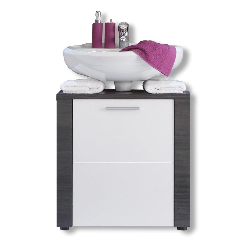 waschbeckenunterschrank xpress esche grau wei 60 cm. Black Bedroom Furniture Sets. Home Design Ideas