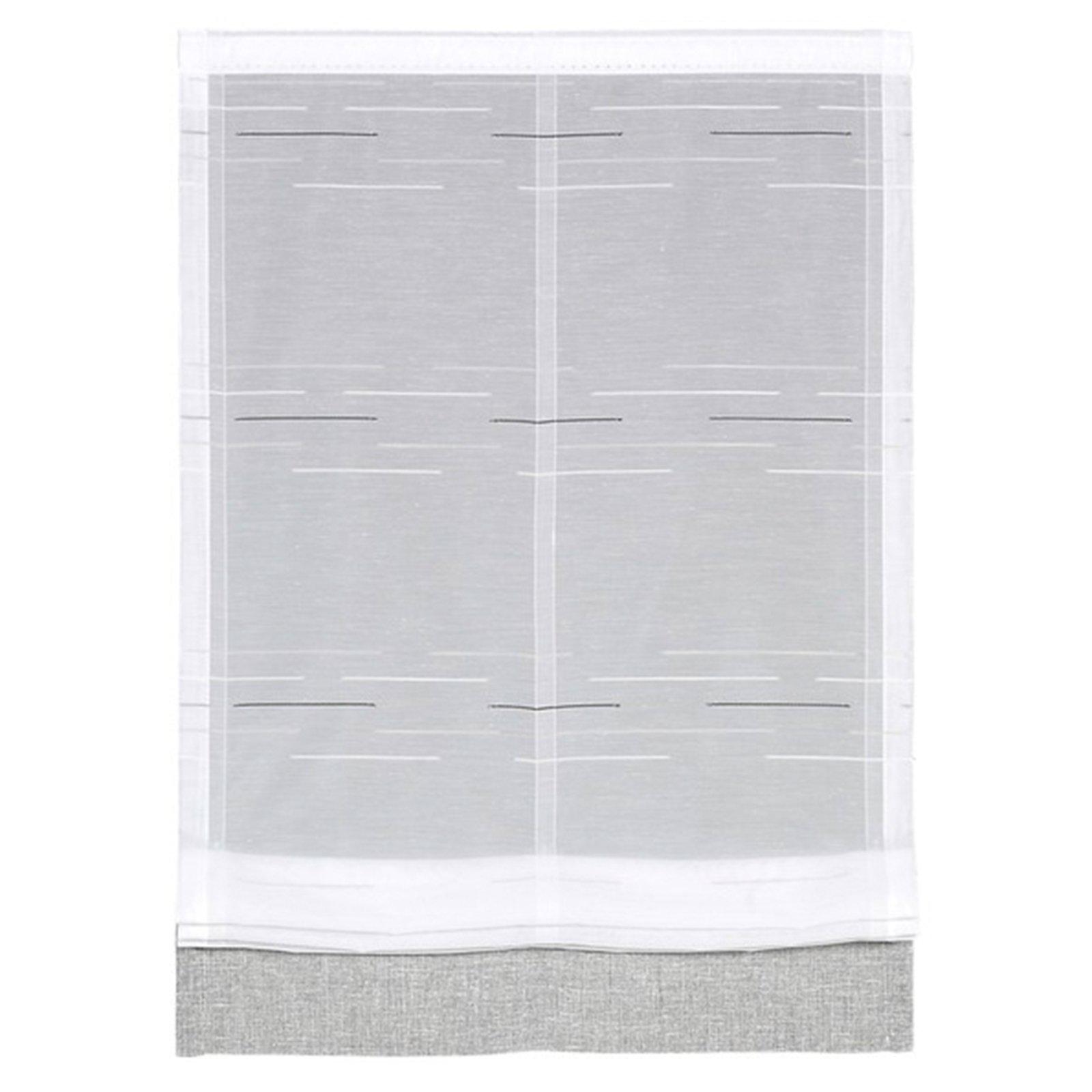 raffrollo wei grau 60x125 cm online bei roller kaufen. Black Bedroom Furniture Sets. Home Design Ideas