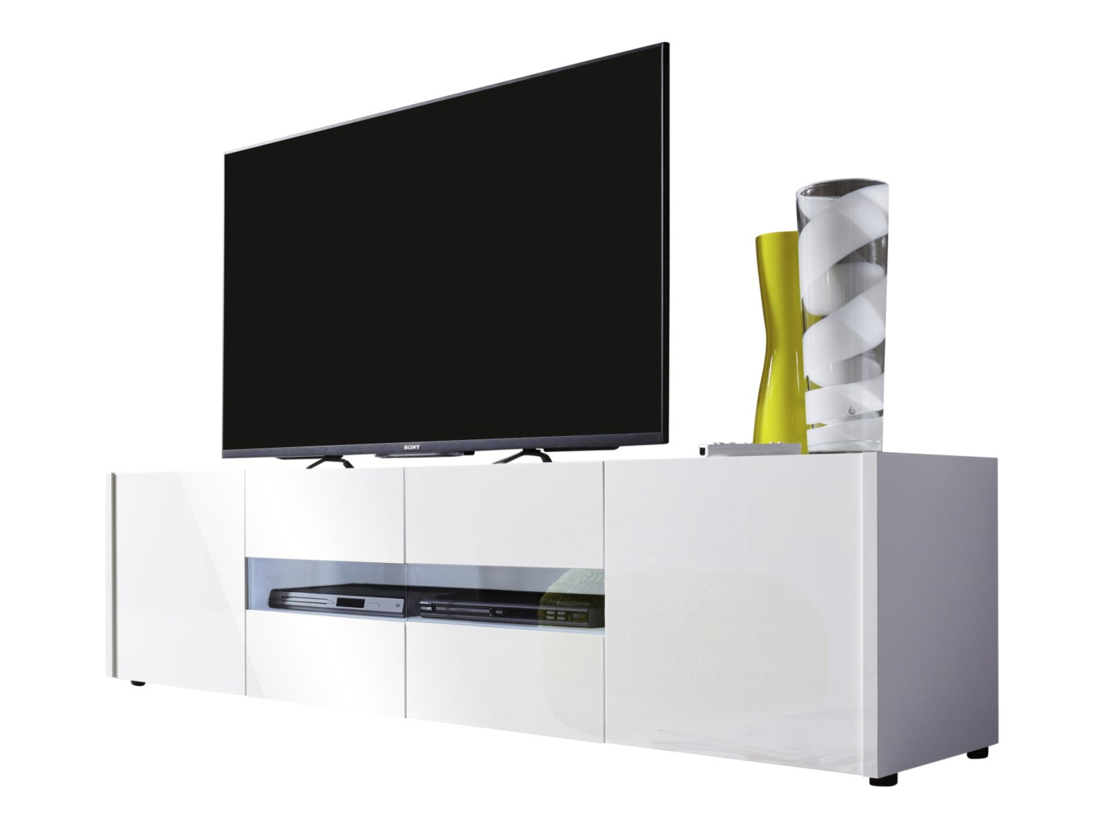 tv lowboard imola wei hochglanz 173 cm tv lowboards. Black Bedroom Furniture Sets. Home Design Ideas