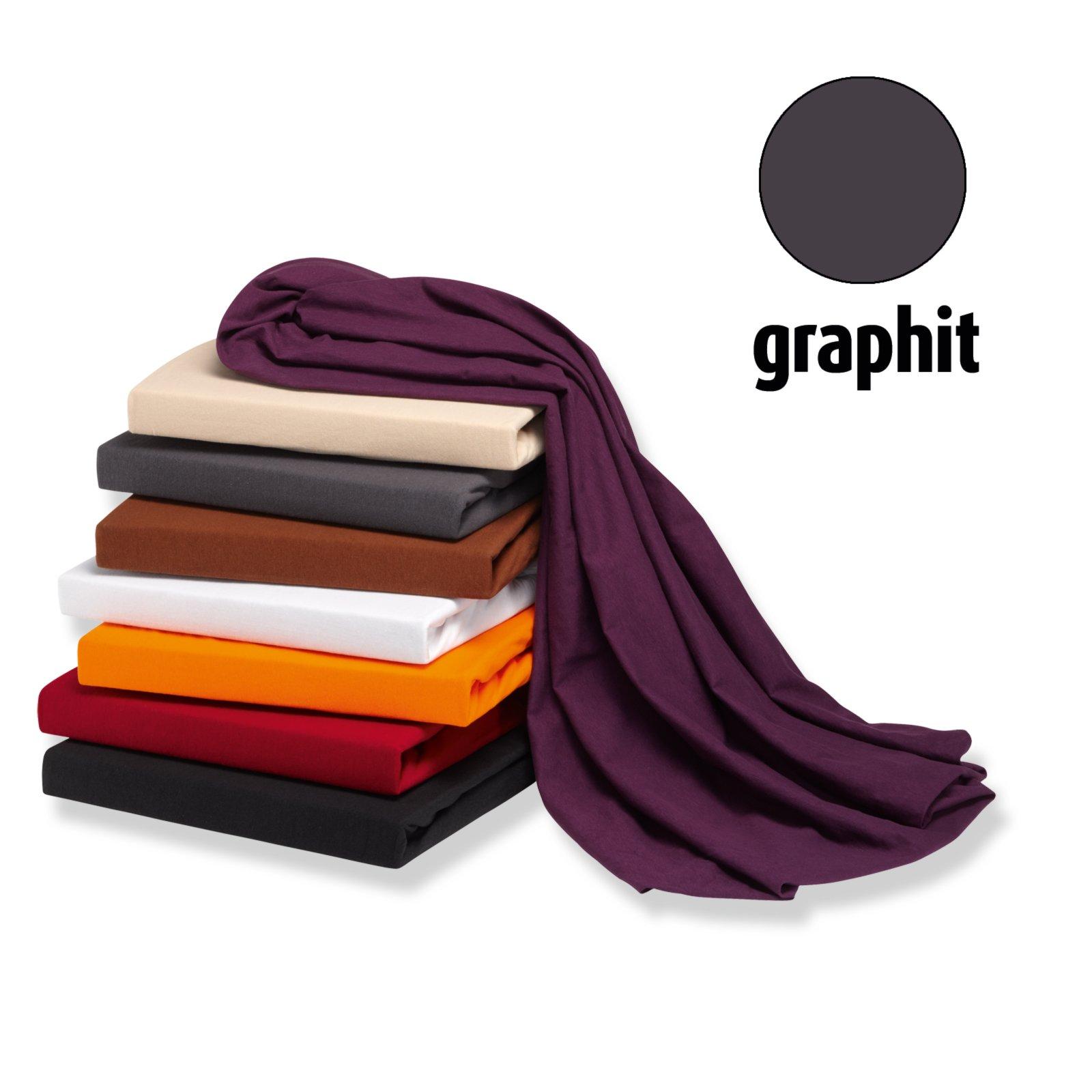 Elastic-Jersey-Spannbettlaken EXCLUSIV - graphit - 90x200 cm