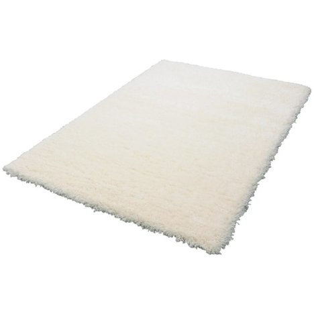 teppich shaggy floki wei 80x150 cm hochflor shaggyteppiche teppiche l ufer deko. Black Bedroom Furniture Sets. Home Design Ideas