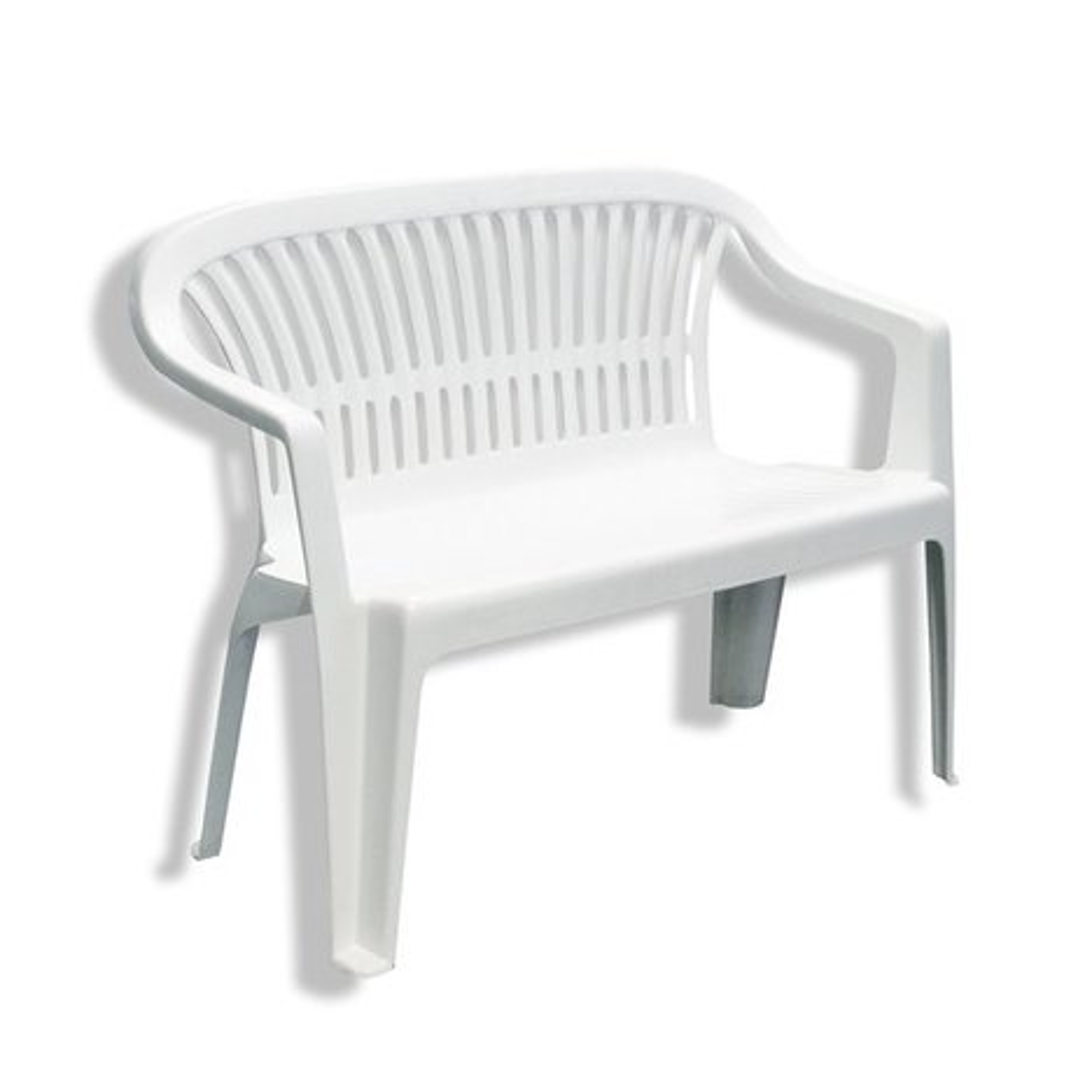 Gartenbank DIVA - weiß - Kunststoff - stapelbar | Gartenbänke ...