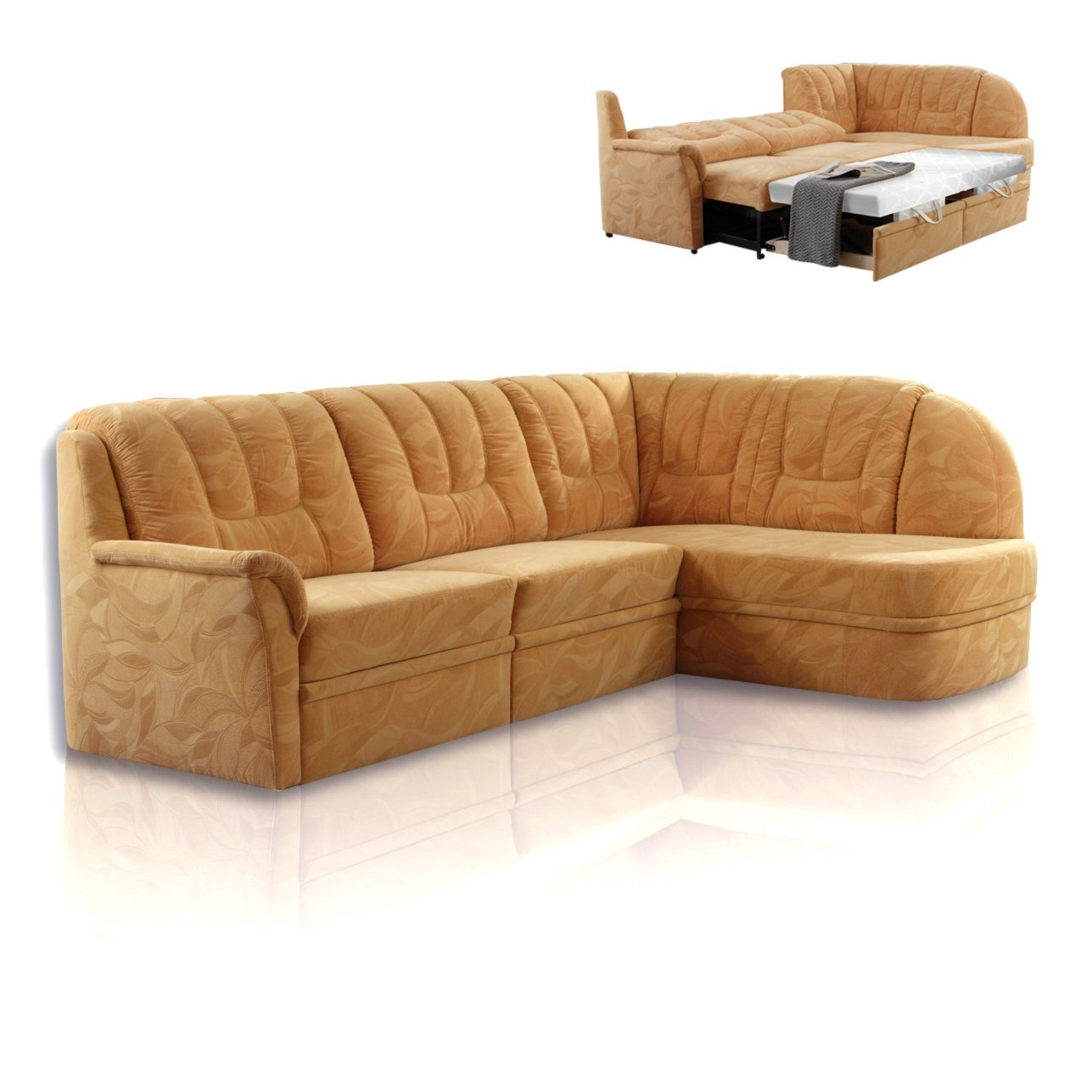 ecksofa sand flockstoff liegefunktion ecksofas l form sofas couches m bel roller. Black Bedroom Furniture Sets. Home Design Ideas