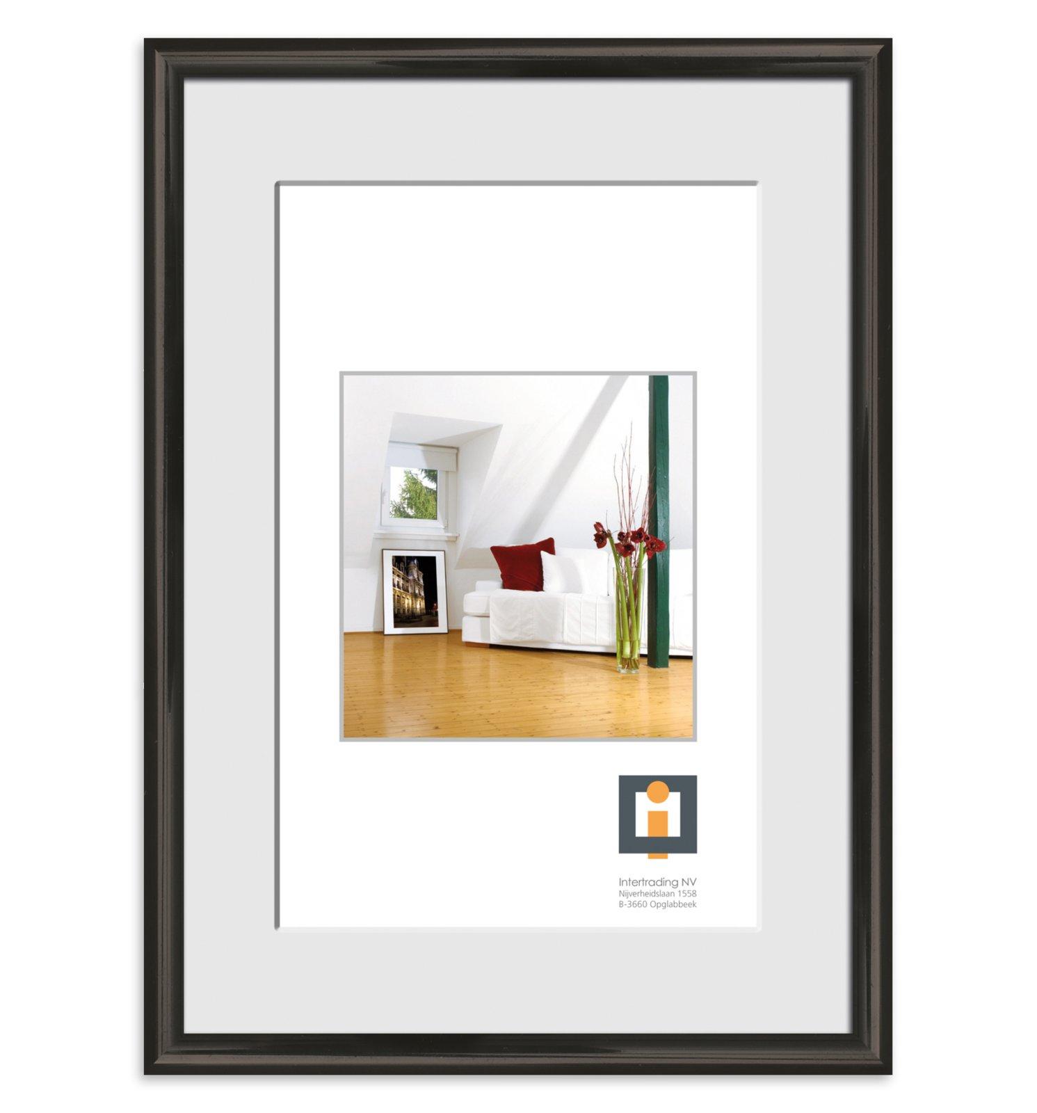 bilderrahmen schwarz kunststoff 50x70 cm bilderrahmen deko artikel deko haushalt. Black Bedroom Furniture Sets. Home Design Ideas